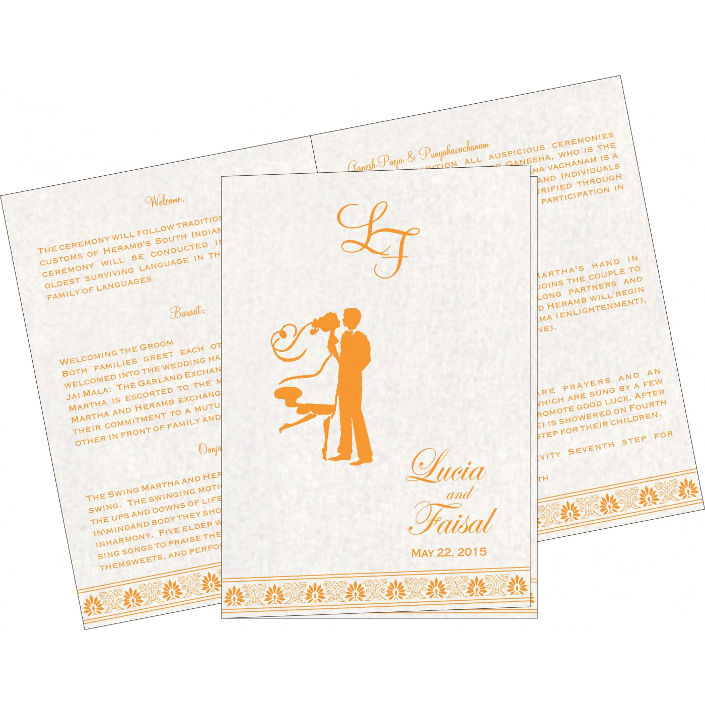 Program Booklets : PC-1296 - 123WeddingCards