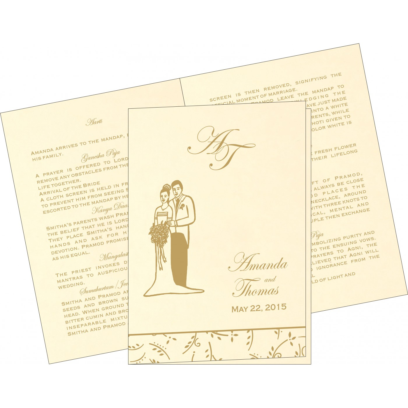 Program Booklets : PC-1303 - 123WeddingCards