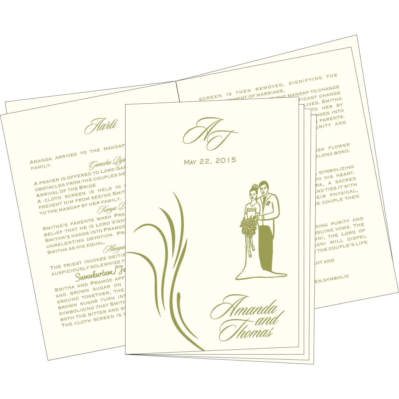 Program Booklets : PC-1317 - 123WeddingCards