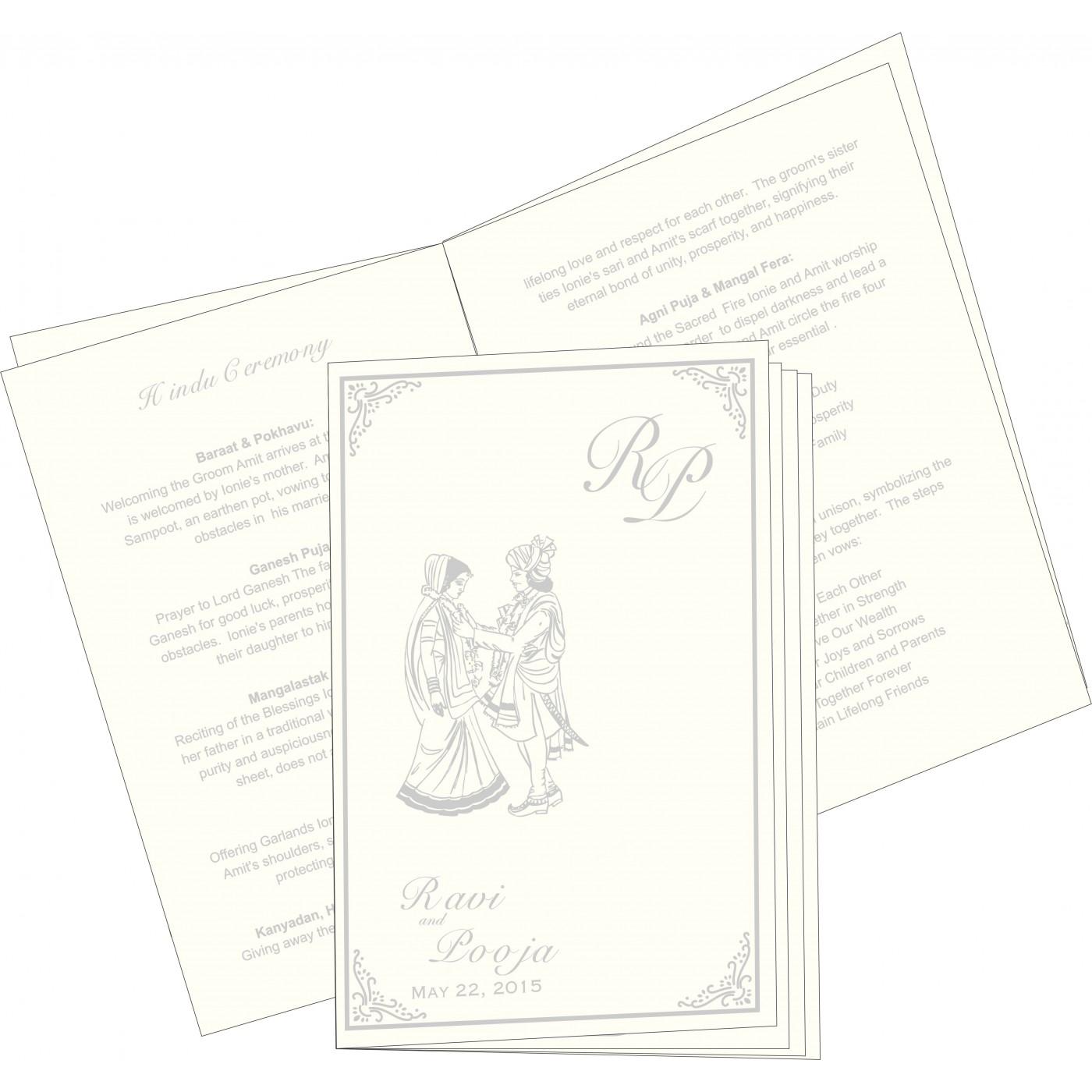 Program Booklets : PC-1325 - 123WeddingCards