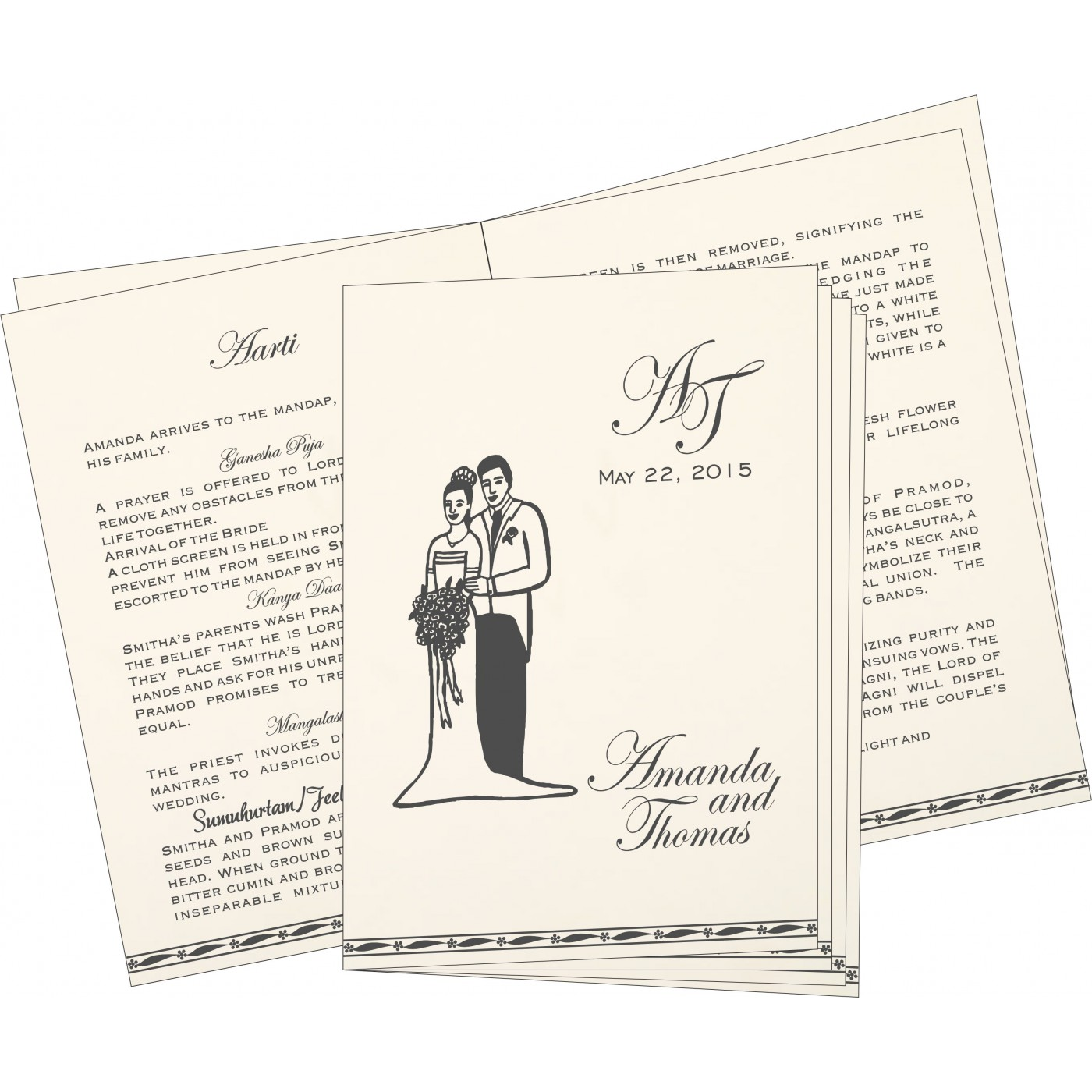 Program Booklets : PC-1328 - 123WeddingCards