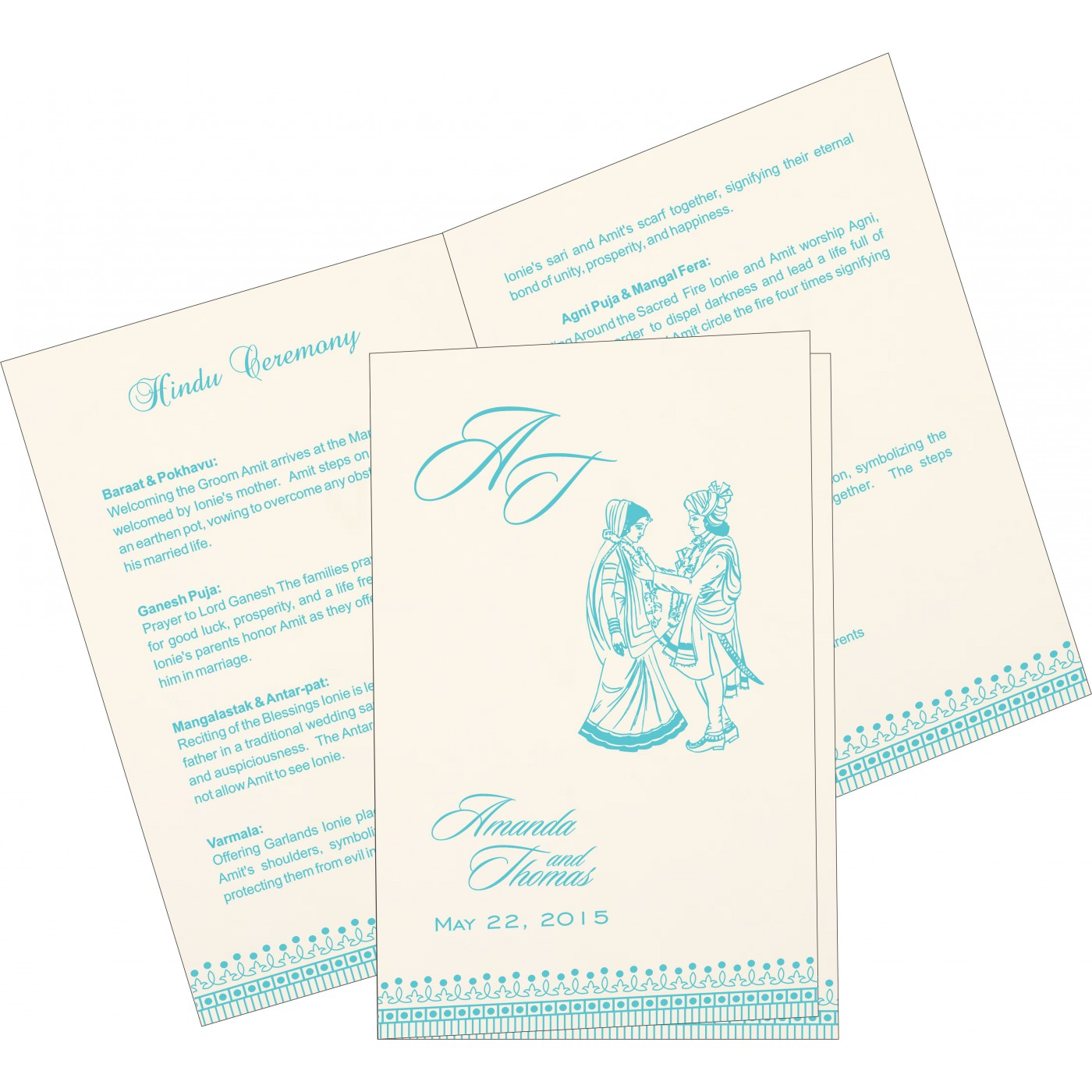 Program Booklets : PC-1338 - 123WeddingCards