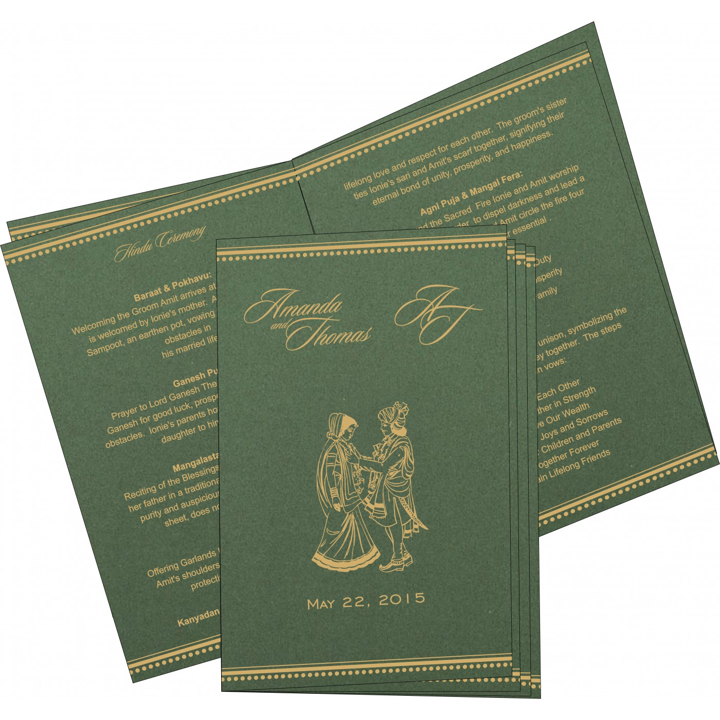 Program Booklets : PC-1388 - 123WeddingCards