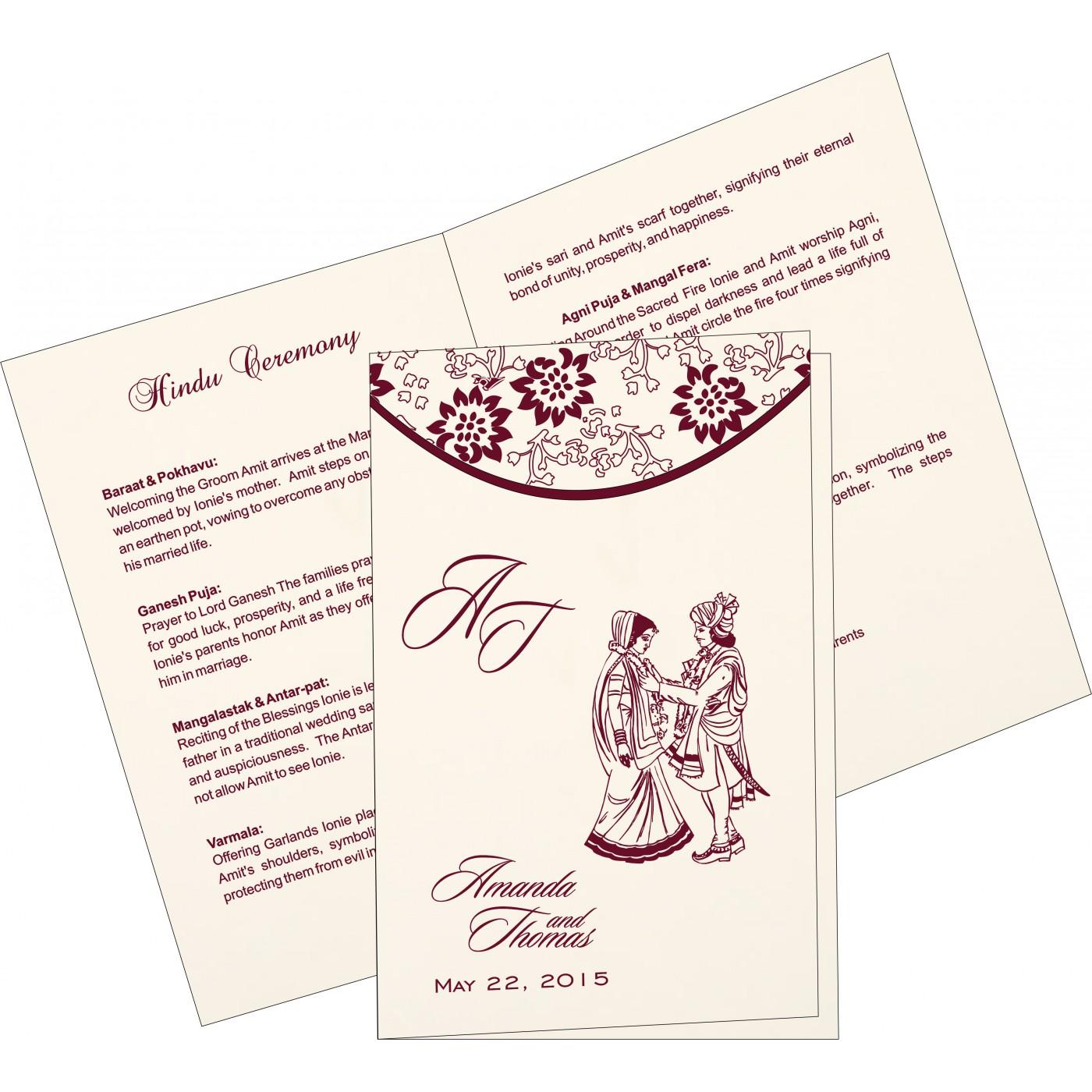 Program Booklets : PC-1391 - 123WeddingCards