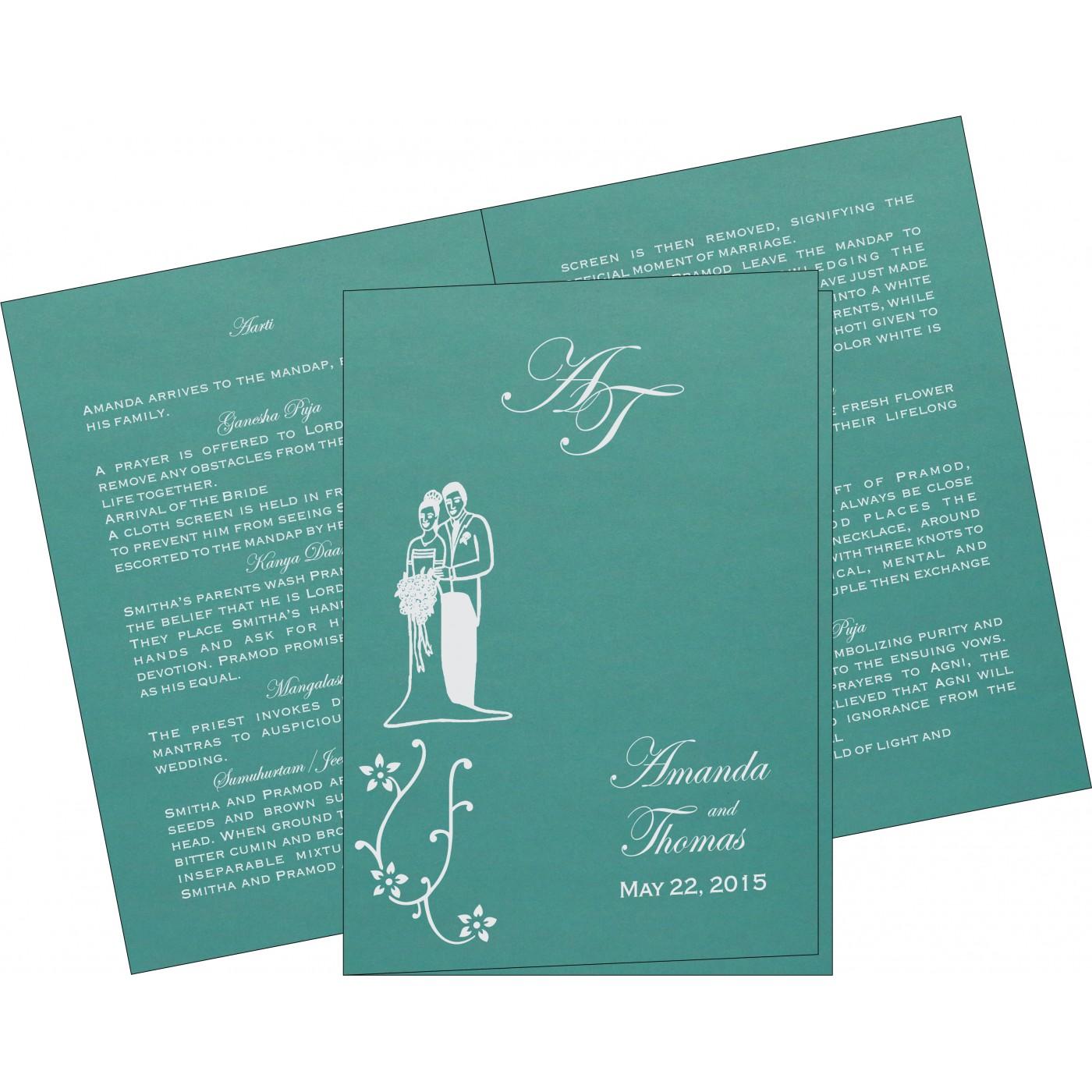 Program Booklets : PC-1400 - 123WeddingCards