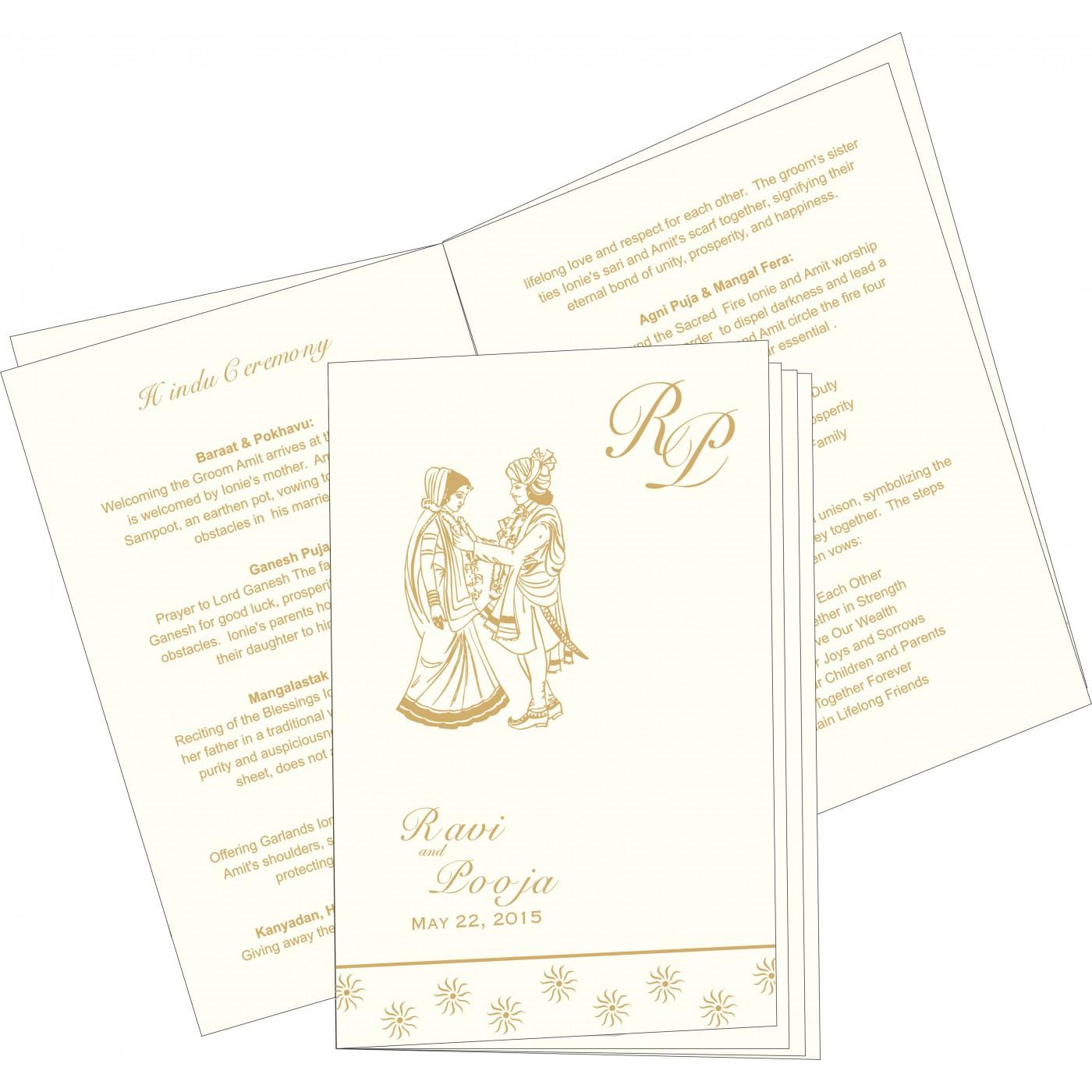 Program Booklets : PC-1405 - 123WeddingCards