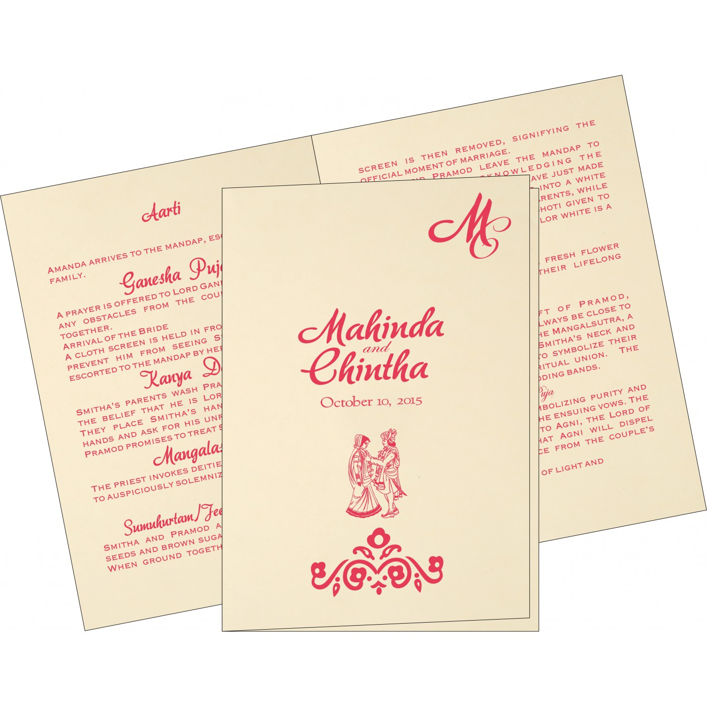 Program Booklets : PC-1407 - 123WeddingCards