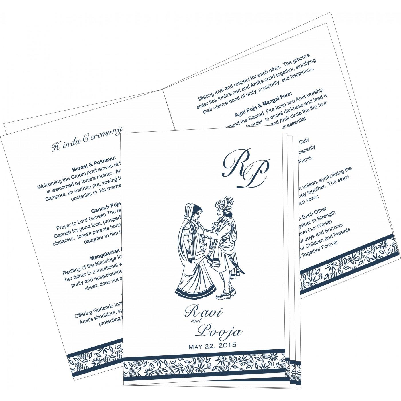 Program Booklets : PC-1433 - 123WeddingCards