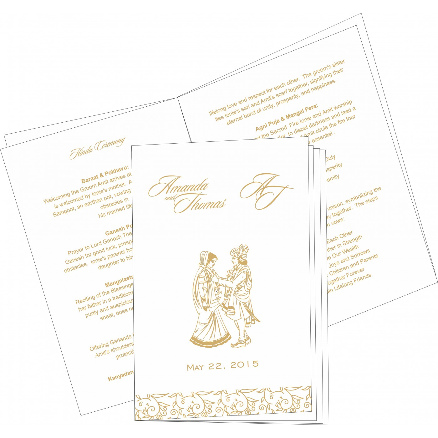 Program Booklets : PC-1447 - 123WeddingCards