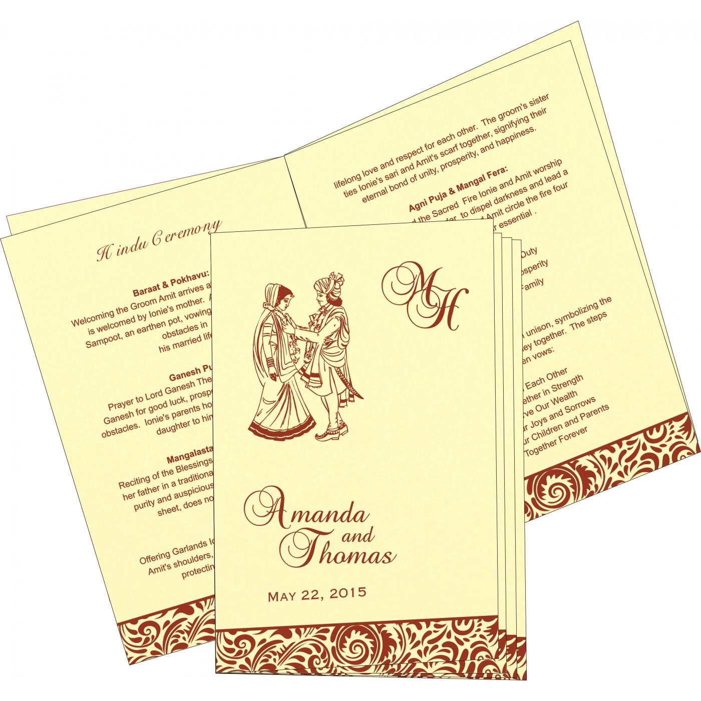 Program Booklets : PC-1471 - 123WeddingCards