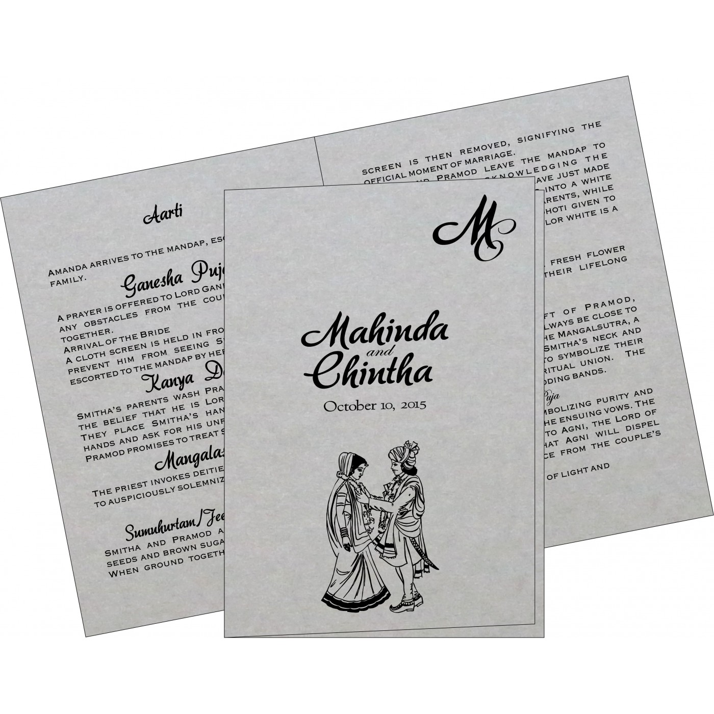 Program Booklets : PC-1498 - 123WeddingCards
