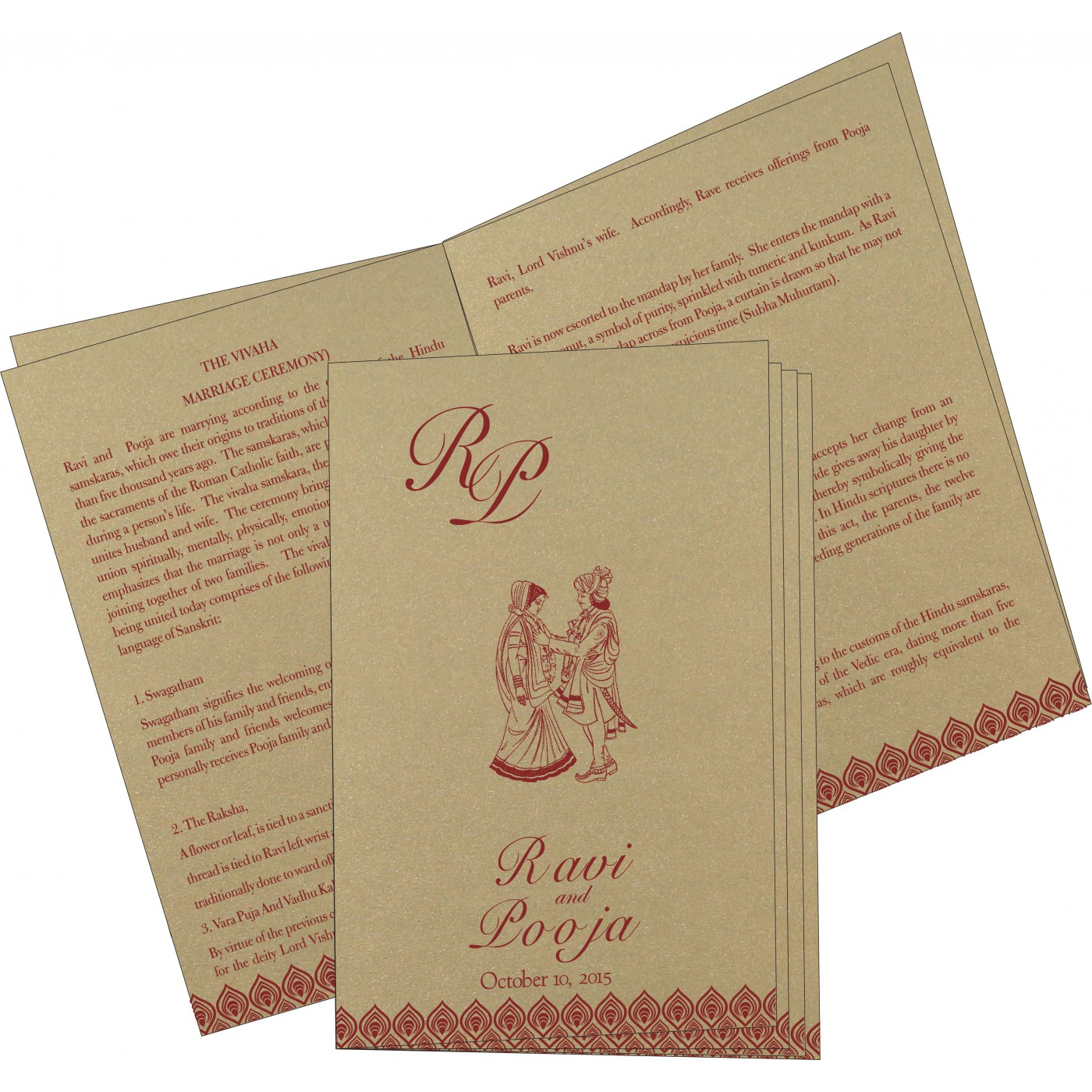 Program Booklets : PC-1506 - 123WeddingCards
