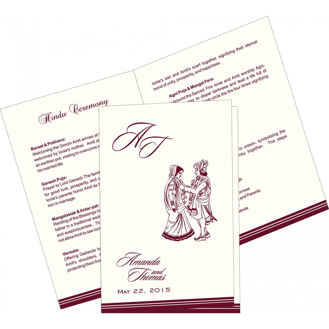 Program Booklets : PC-2054 - 123WeddingCards