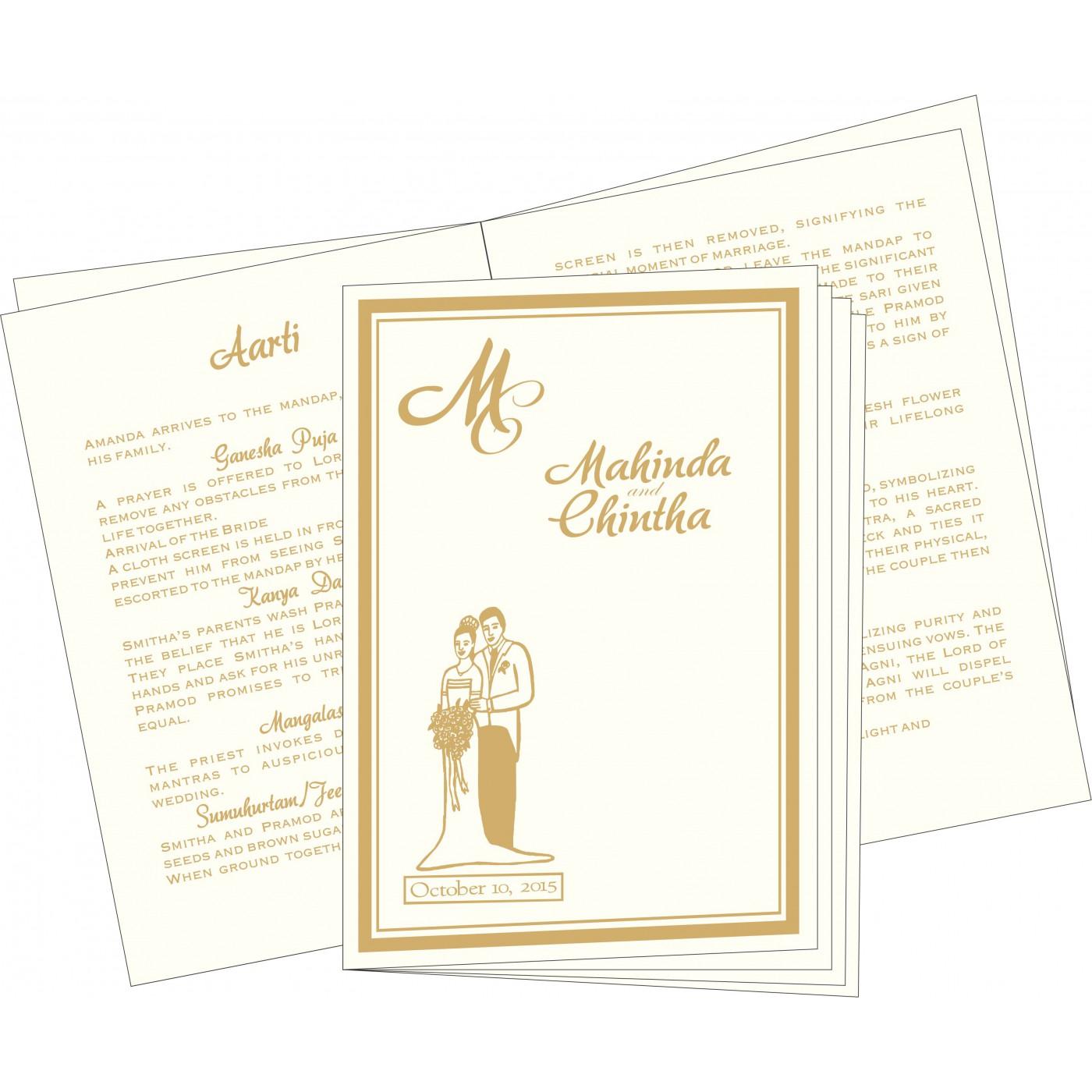 Program Booklets : PC-2076 - 123WeddingCards