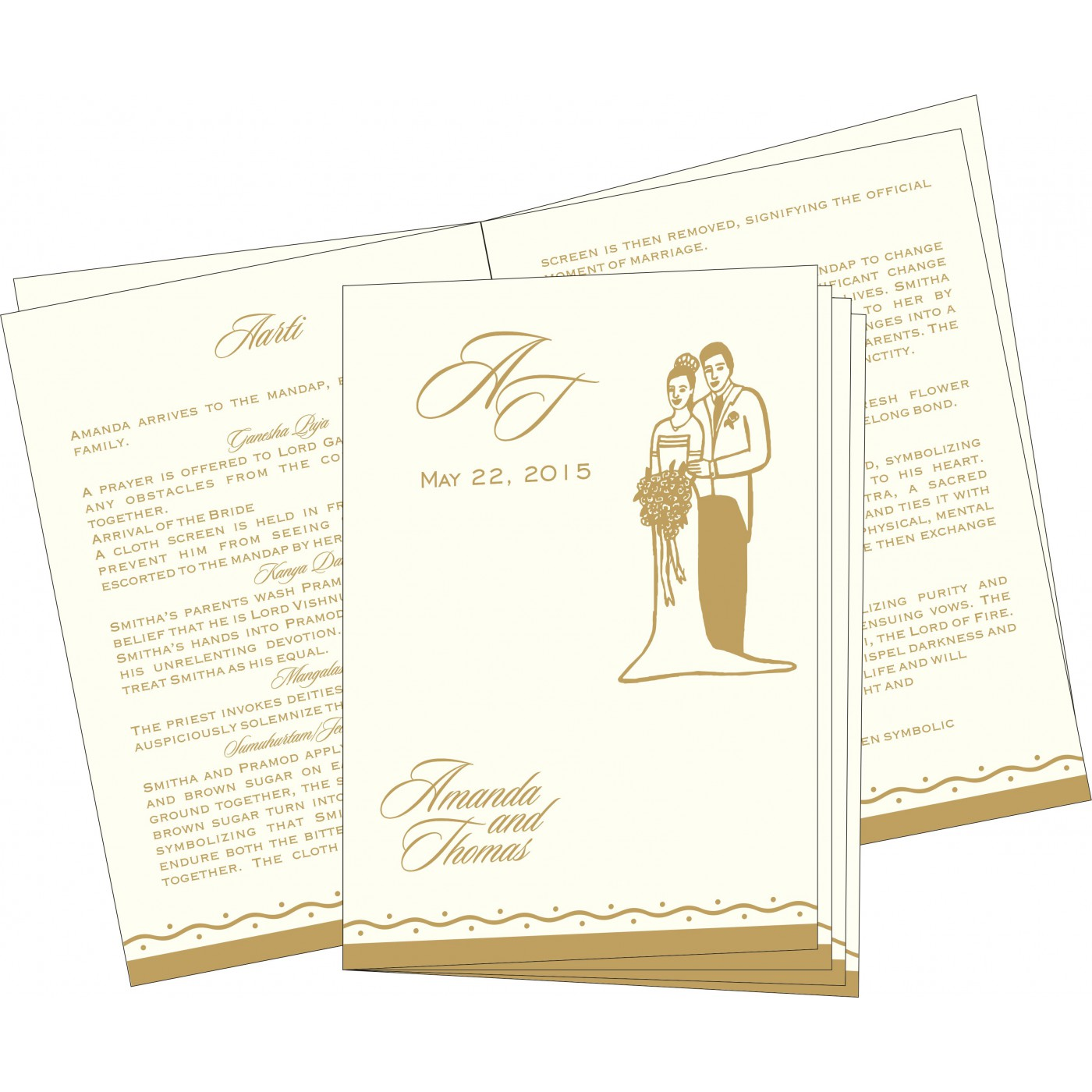 Program Booklets : PC-2103 - 123WeddingCards