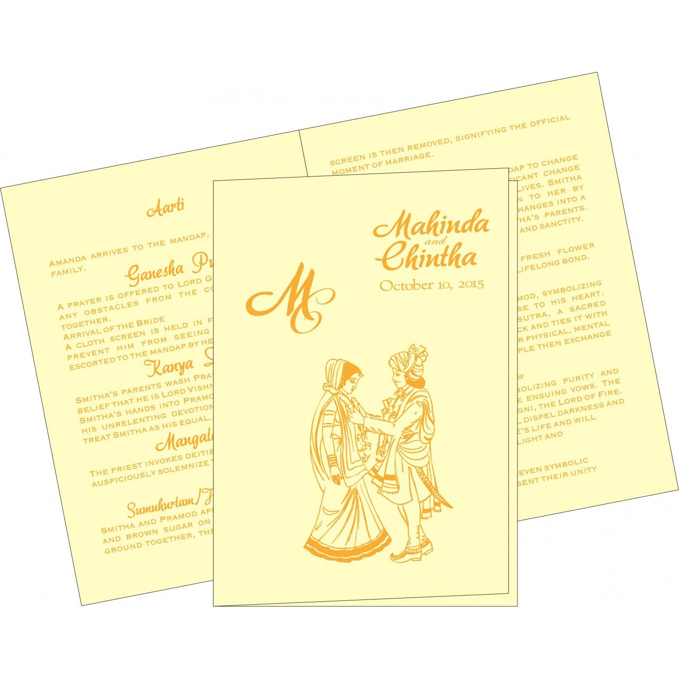 Program Booklets : PC-2111 - 123WeddingCards