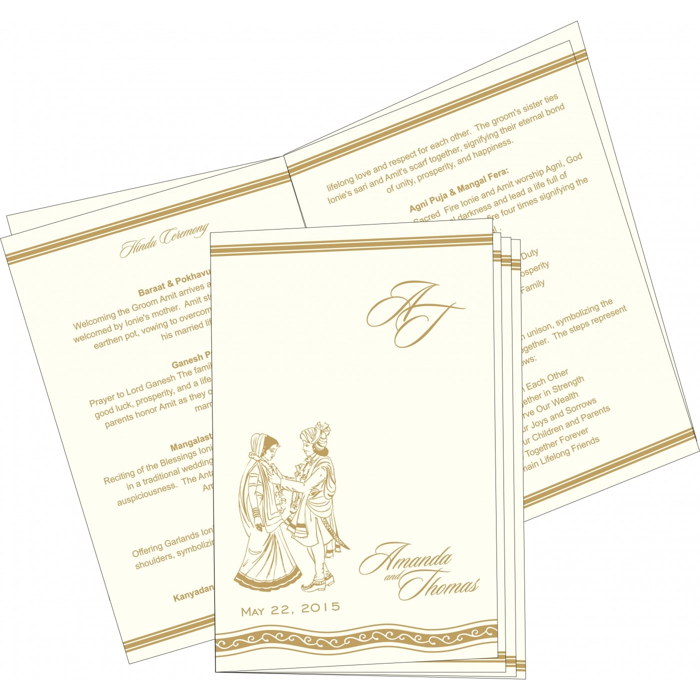 Program Booklets : PC-2169 - 123WeddingCards