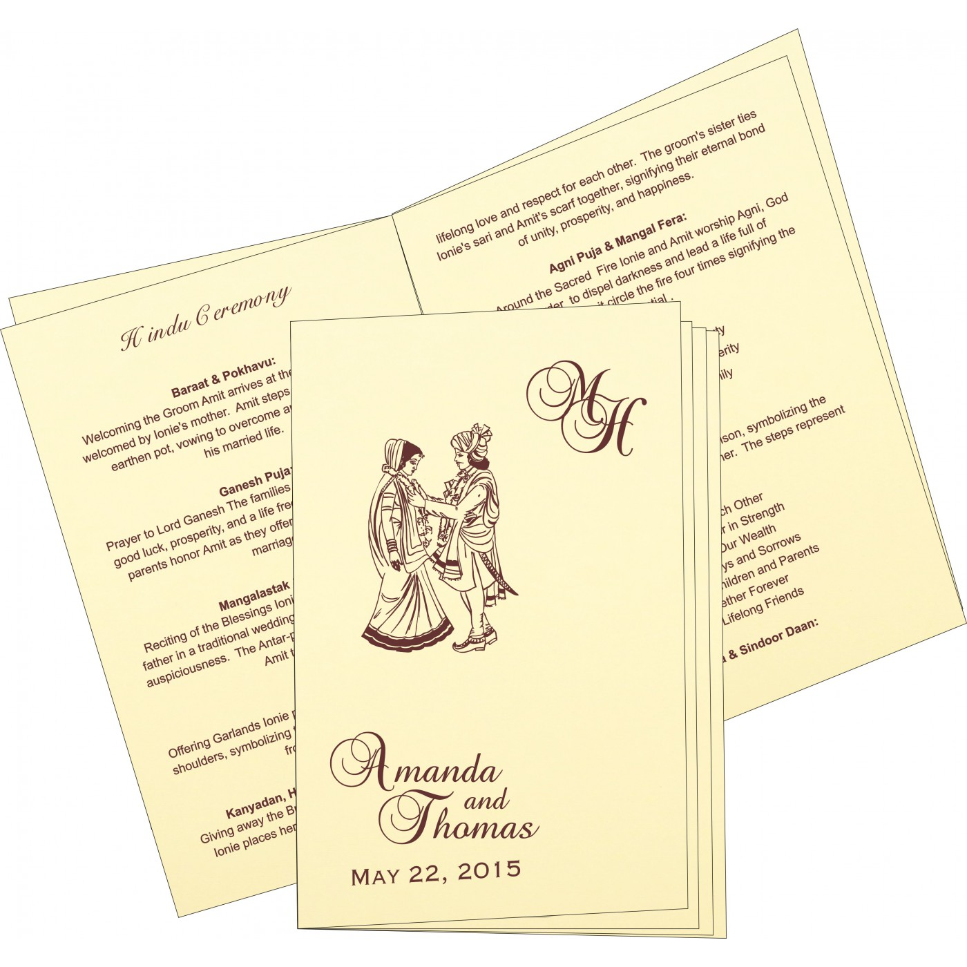 Program Booklets : PC-2275 - 123WeddingCards