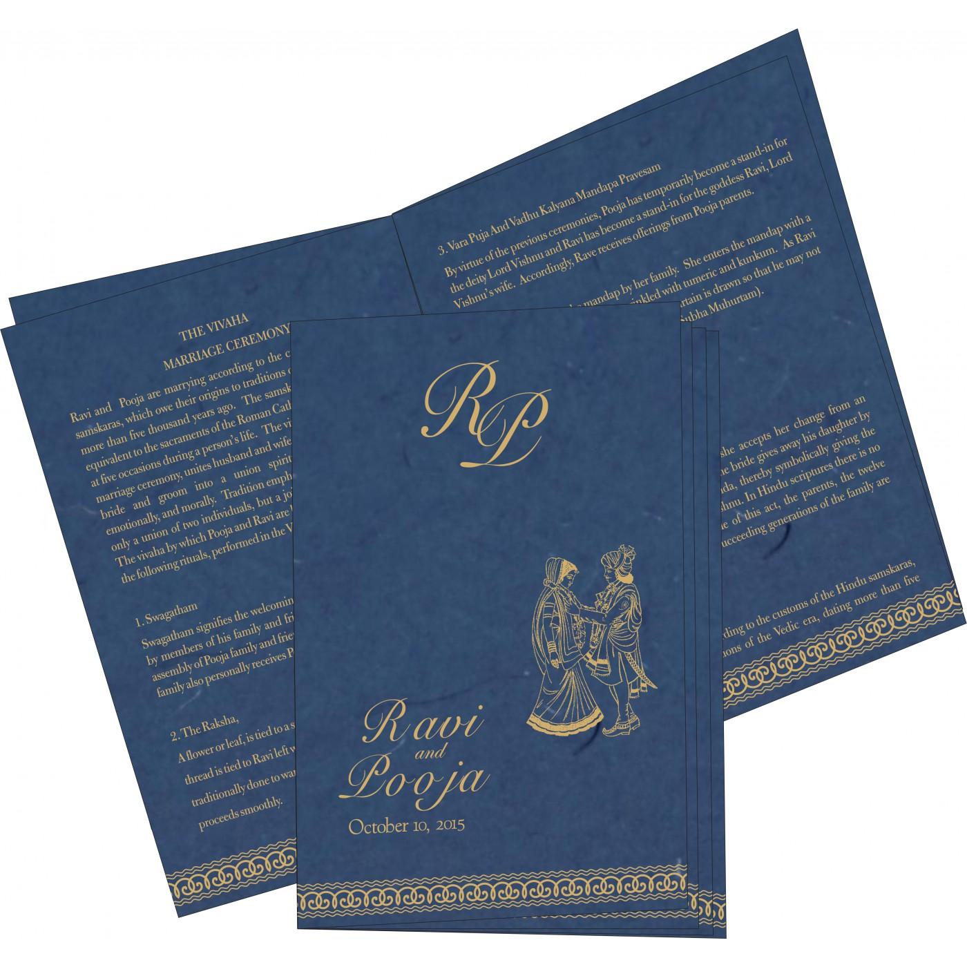 Program Booklets : PC-5002D - 123WeddingCards