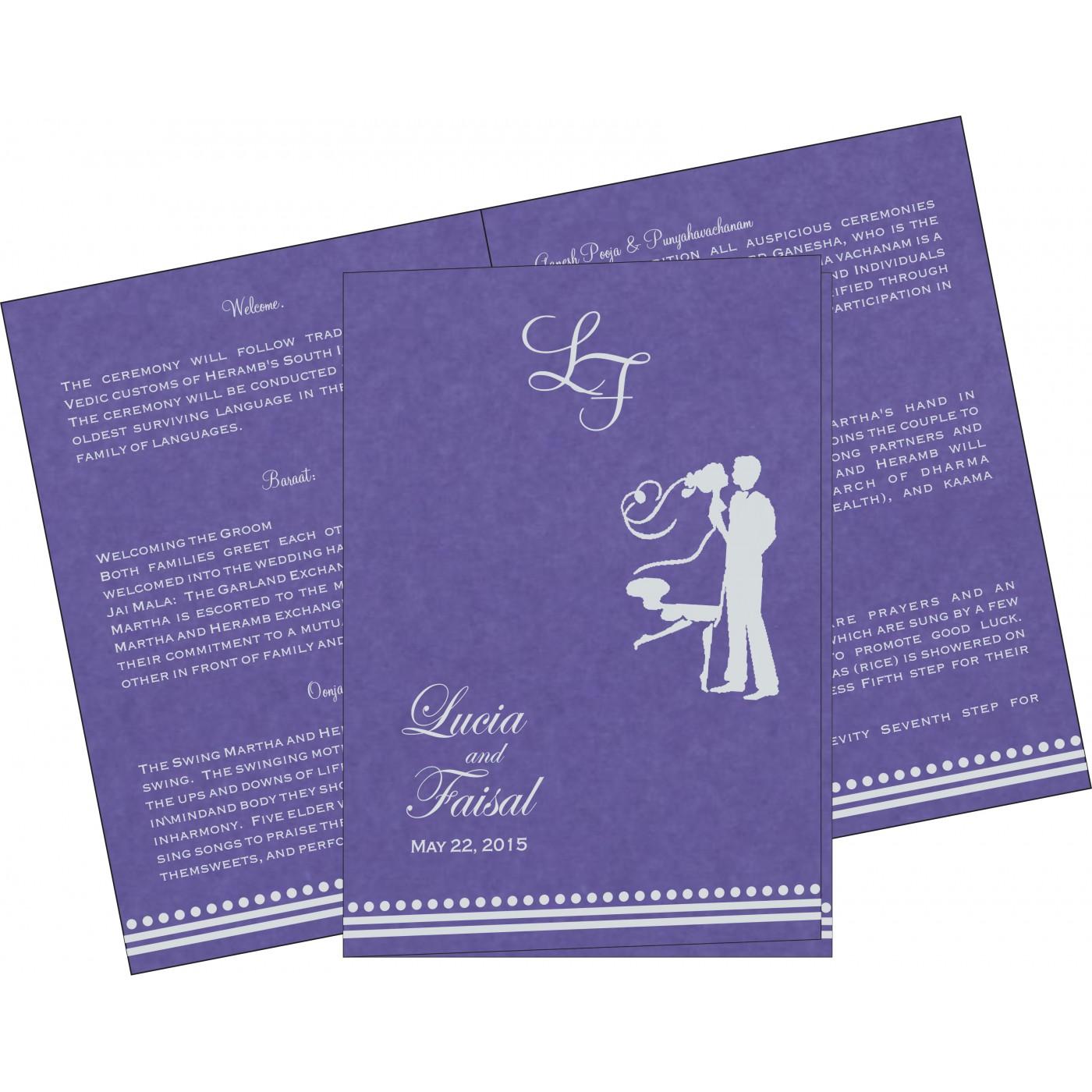 Program Booklets : PC-5011A - 123WeddingCards