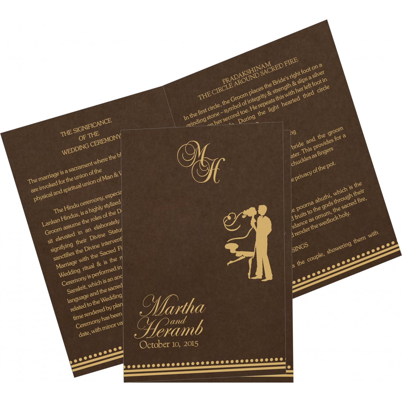 Program Booklets : PC-5011H - 123WeddingCards