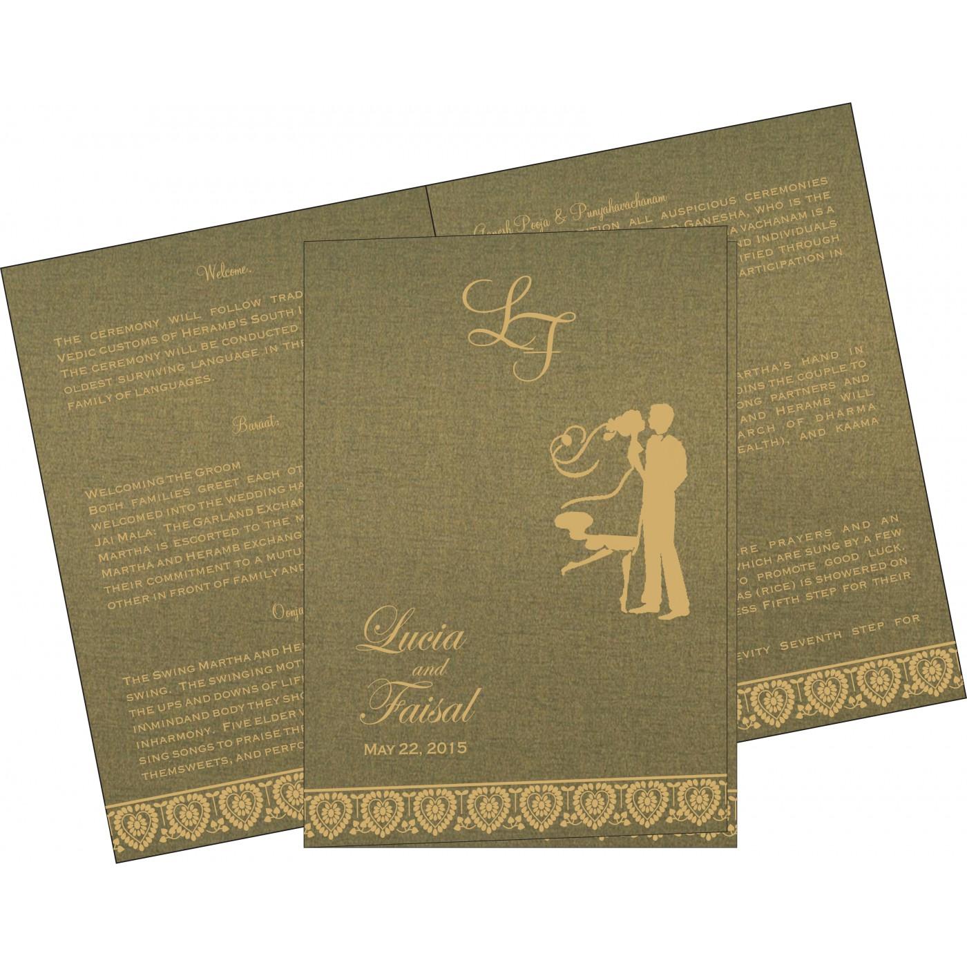 Program Booklets : PC-5012A - 123WeddingCards