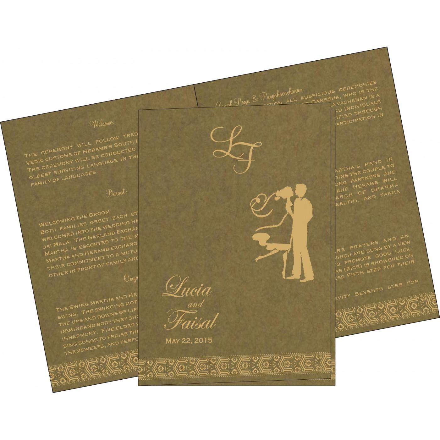 Program Booklets : PC-5014A - 123WeddingCards