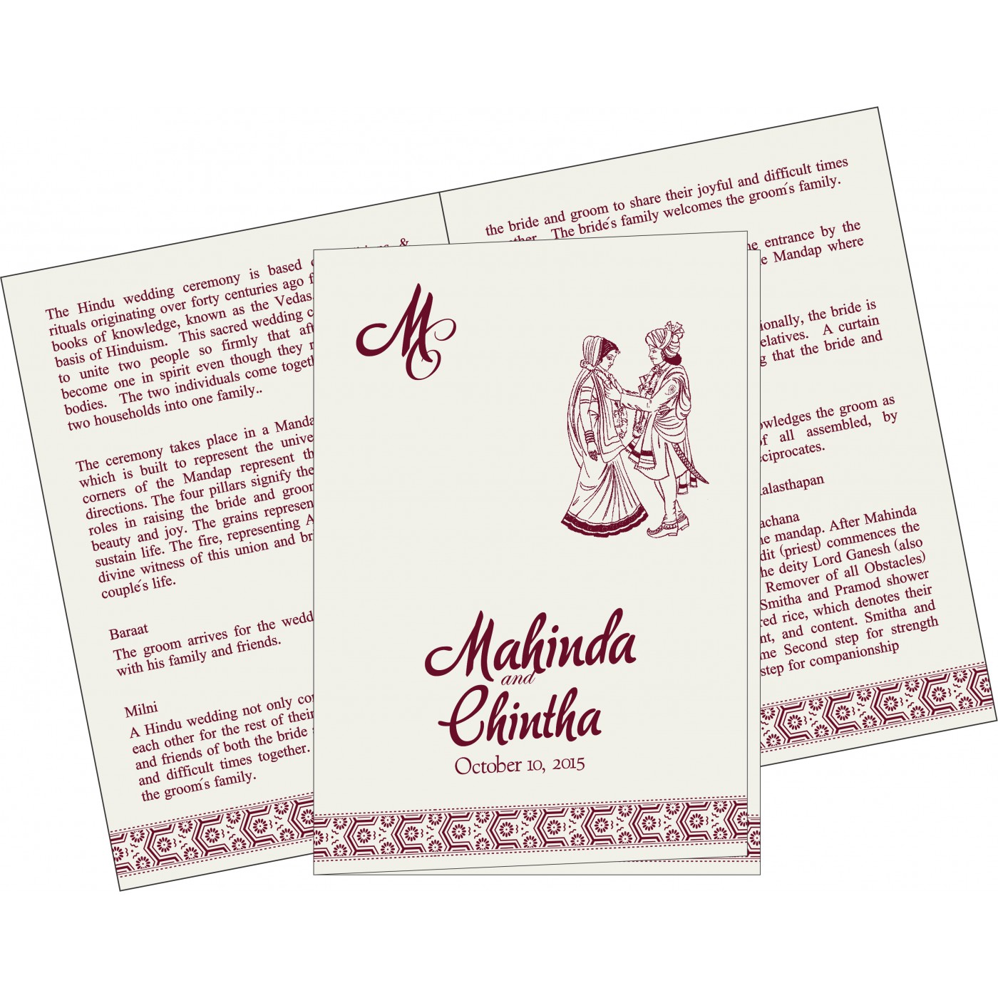 Program Booklets : PC-5014J - 123WeddingCards