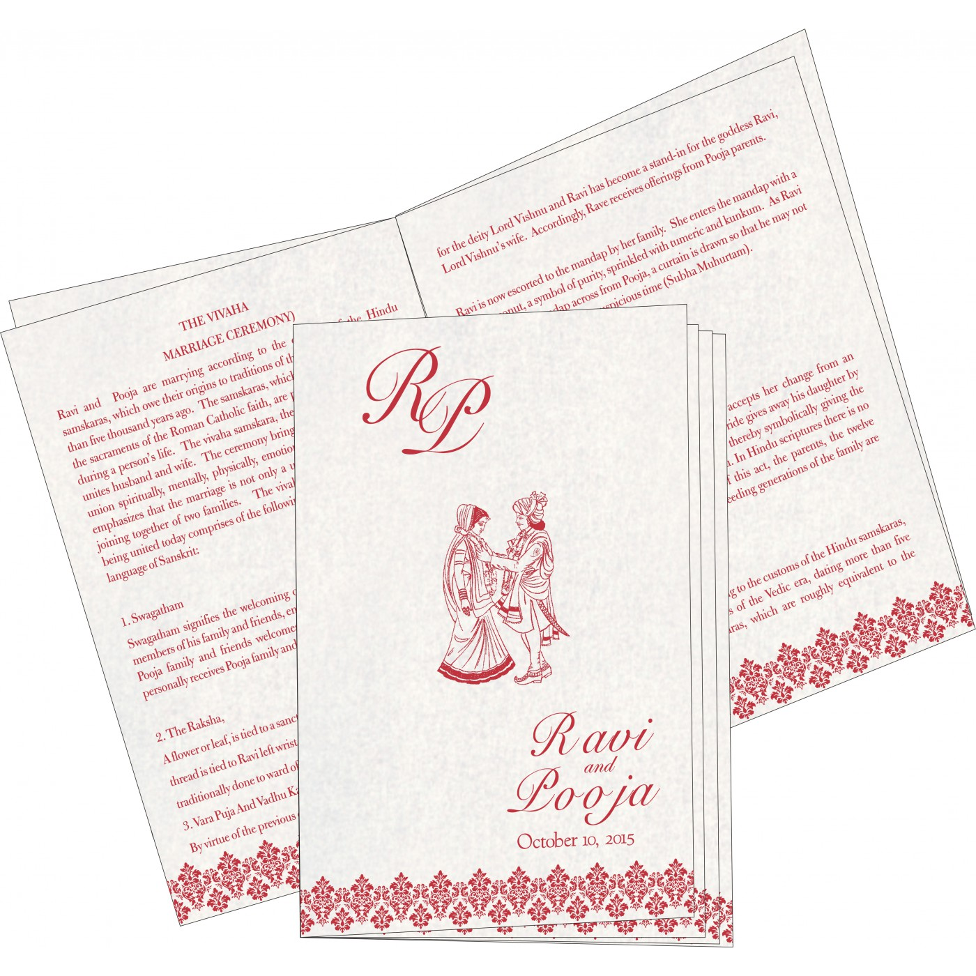 Program Booklets : PC-5016D - 123WeddingCards
