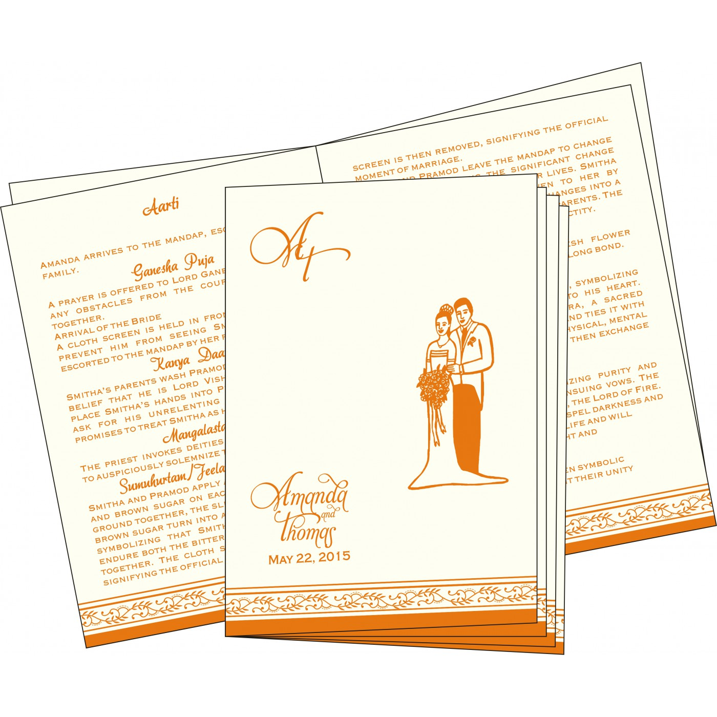 Program Booklets : PC-8202B - 123WeddingCards