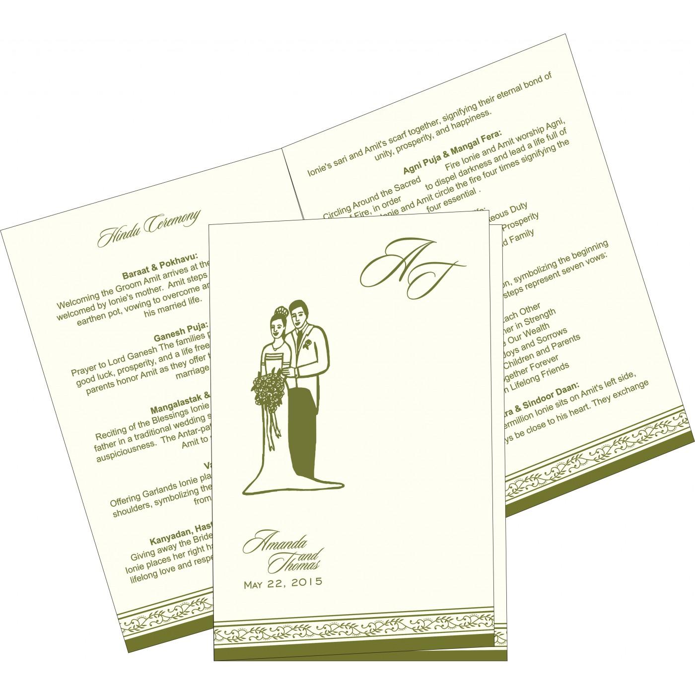 Program Booklets : PC-8202C - 123WeddingCards