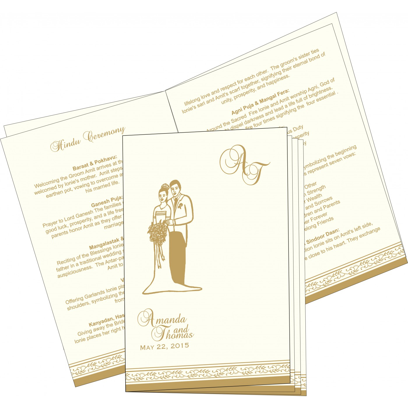 Program Booklets : PC-8202D - 123WeddingCards