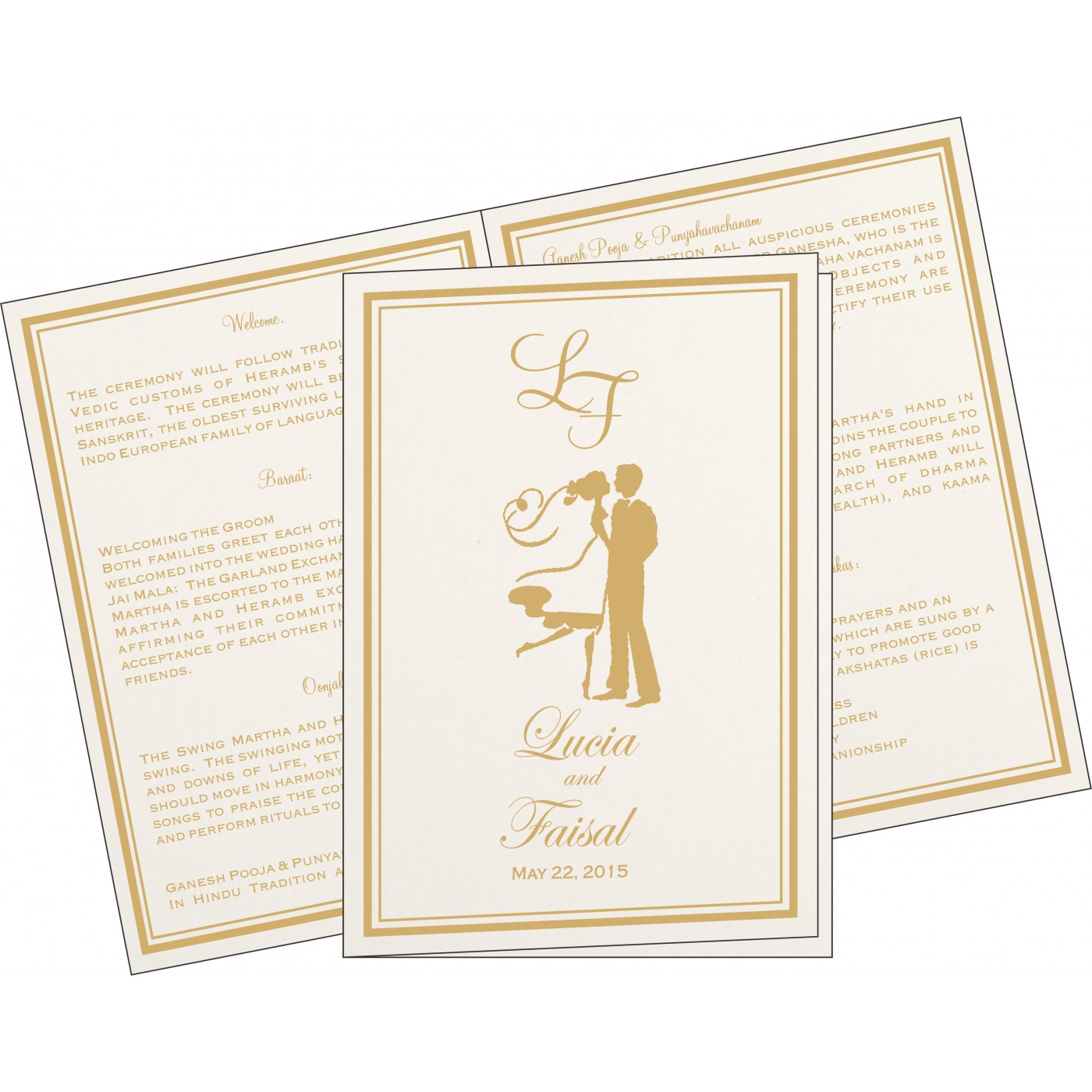 Program Booklets : PC-8203A - 123WeddingCards