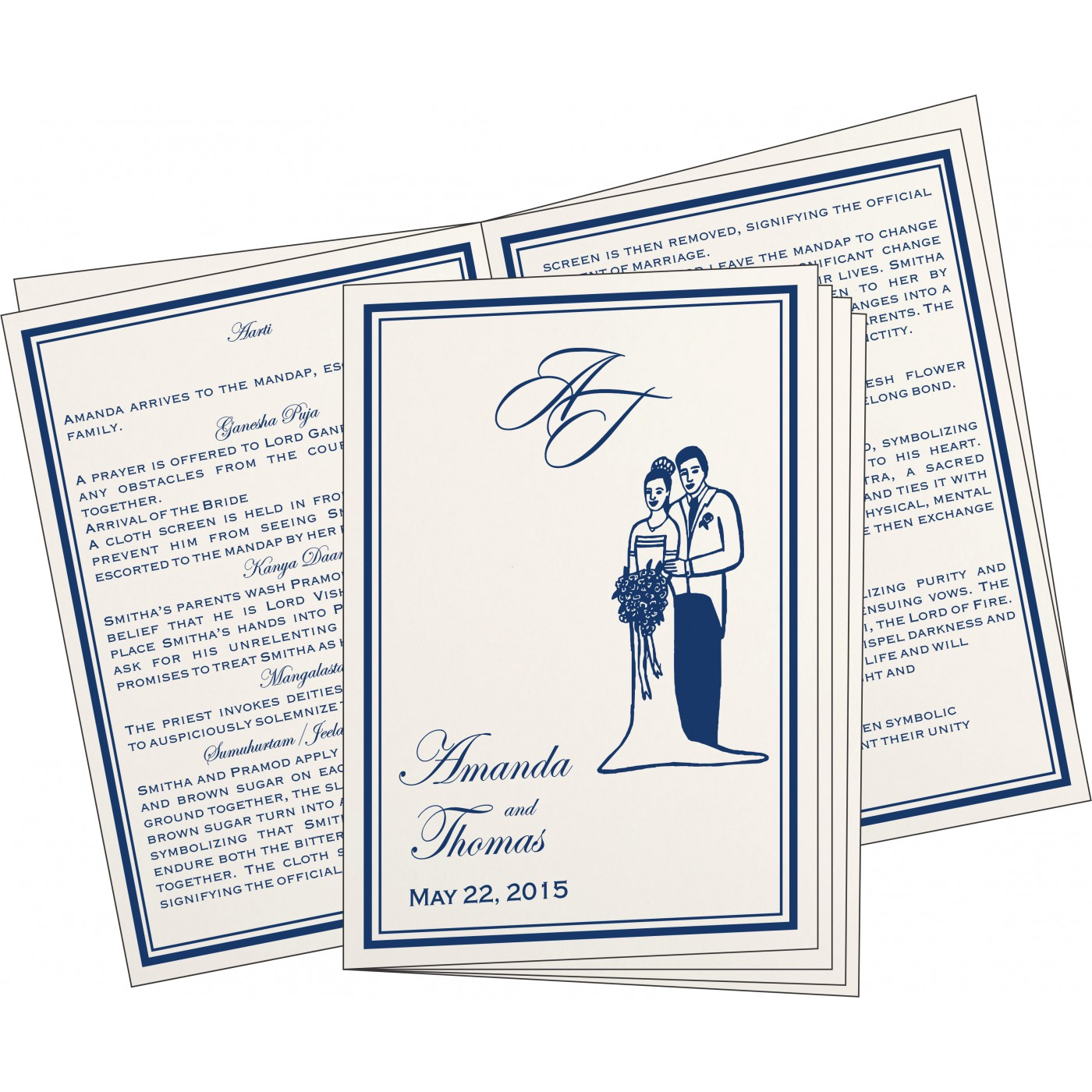 Program Booklets : PC-8203B - 123WeddingCards