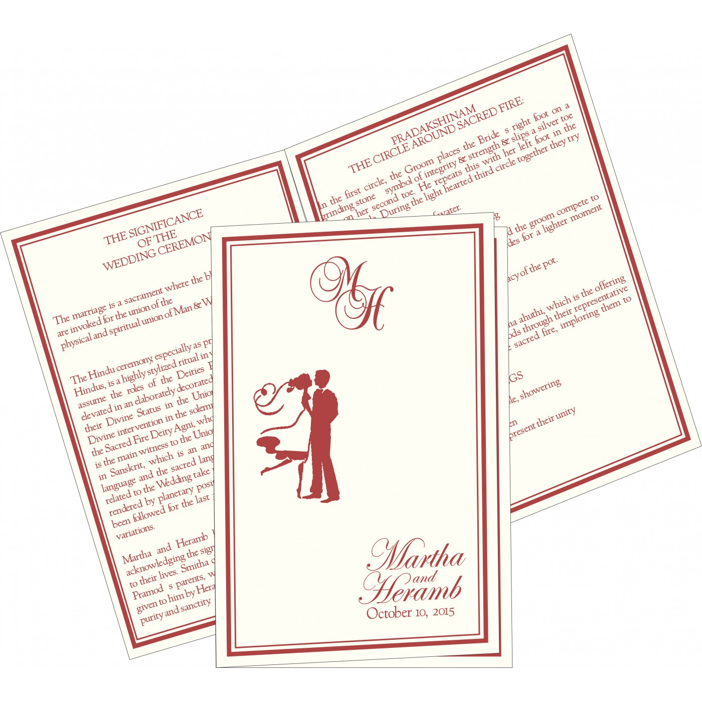 Program Booklets : PC-8203C - 123WeddingCards