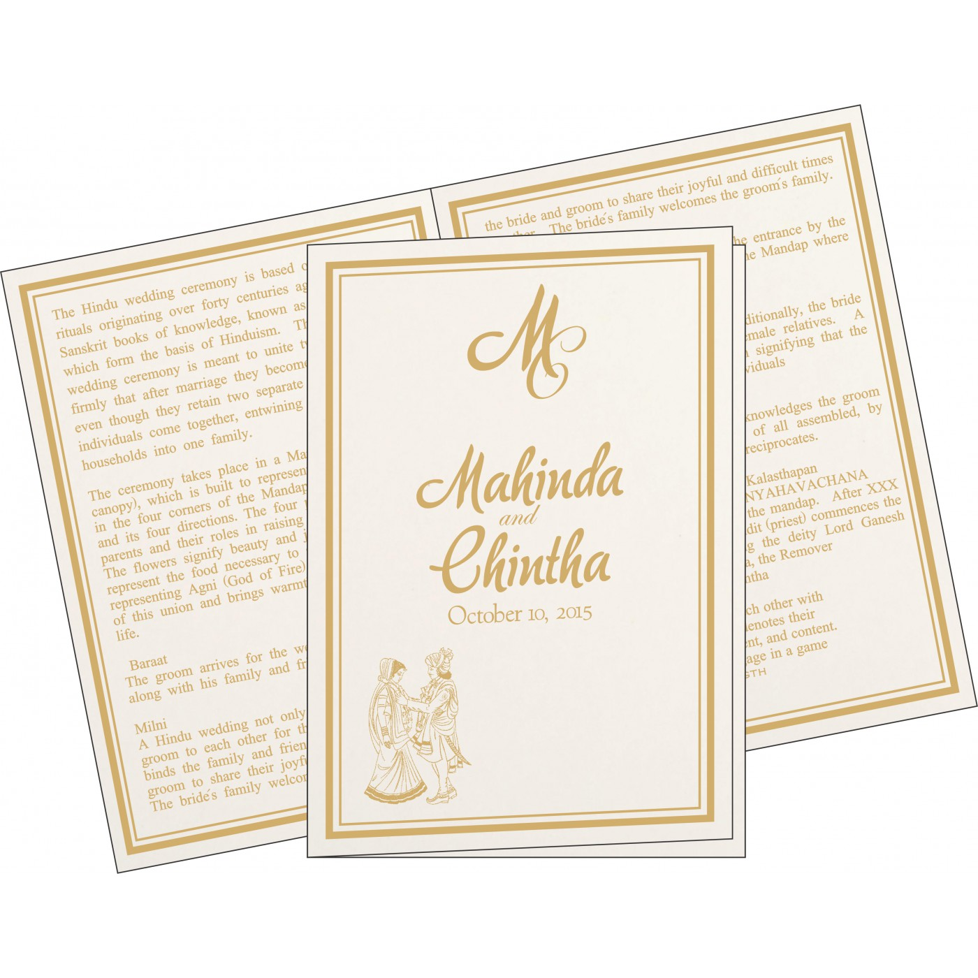 Program Booklets : PC-8203E - 123WeddingCards