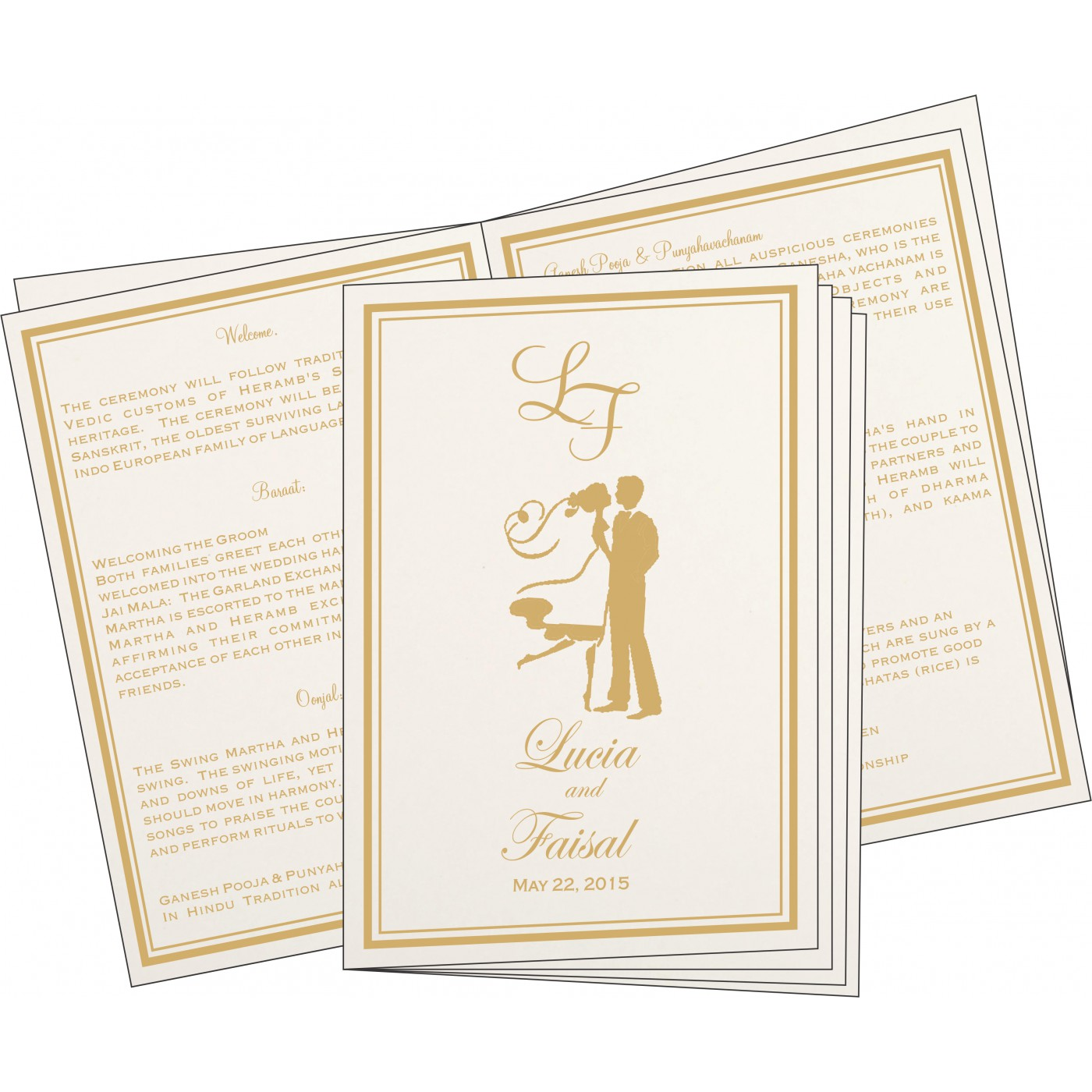 Program Booklets : PC-8203F - 123WeddingCards