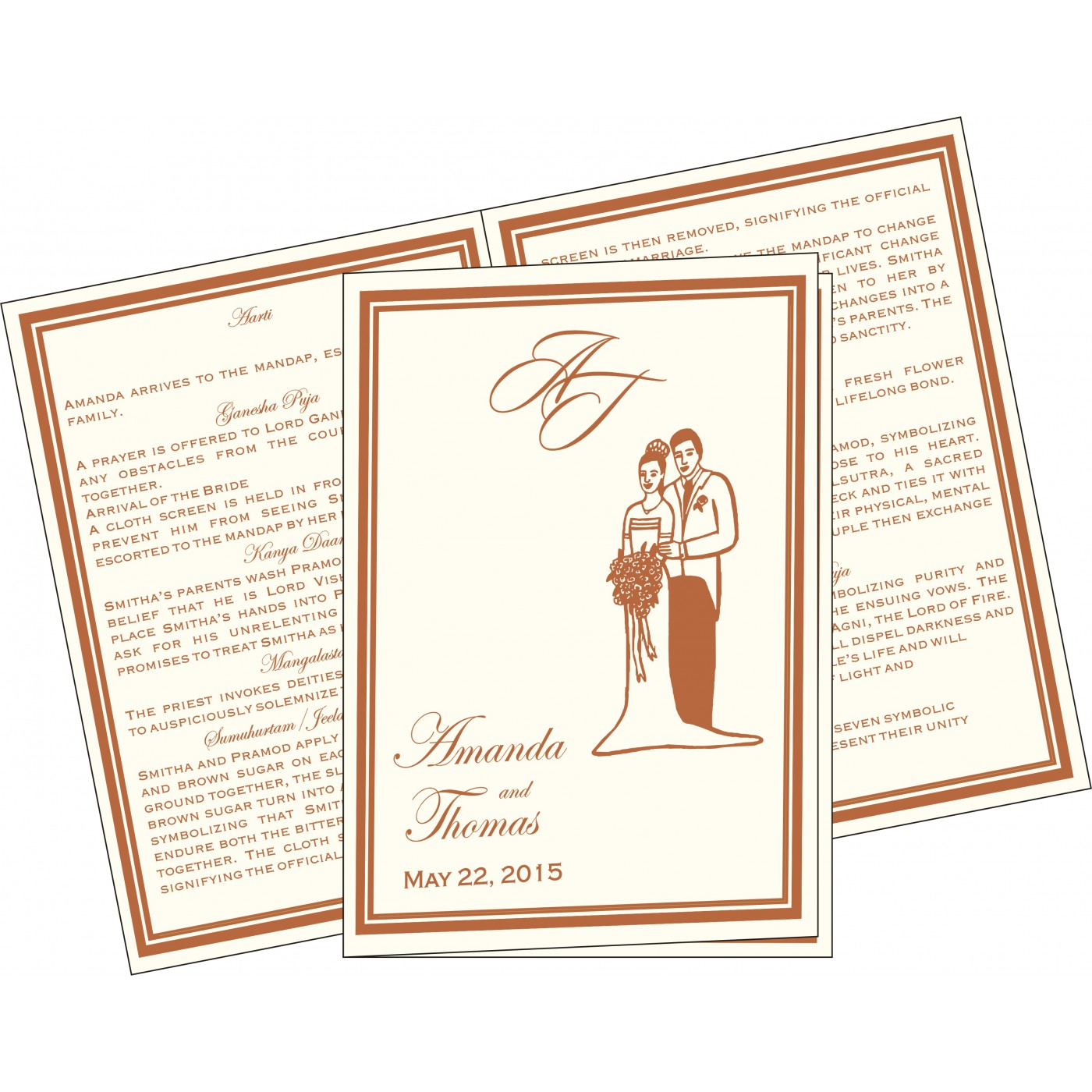 Program Booklets : PC-8204A - 123WeddingCards