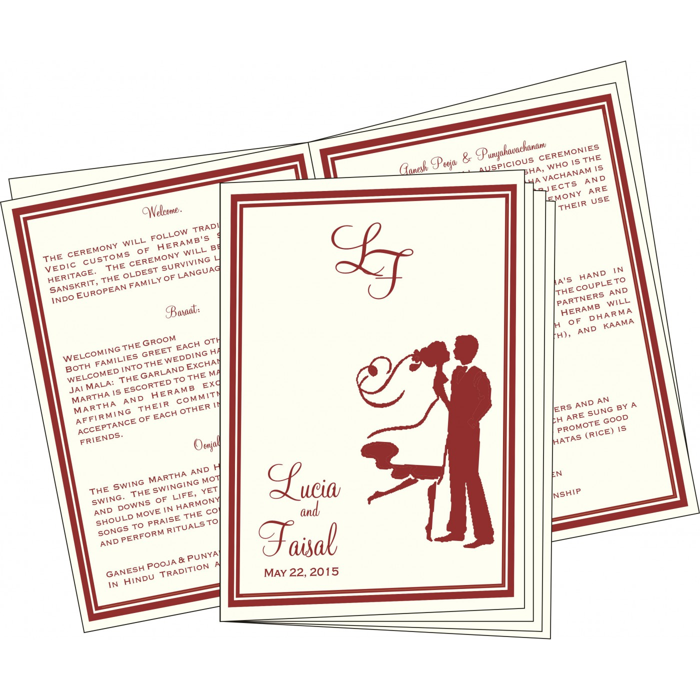 Program Booklets : PC-8204B - 123WeddingCards