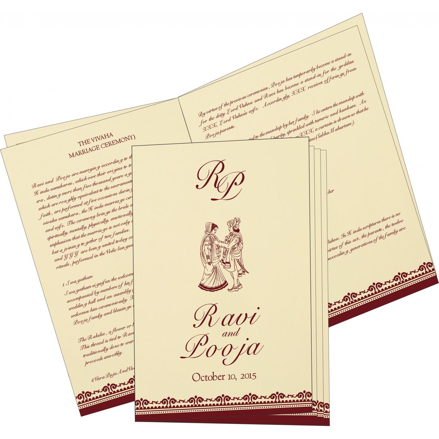 Program Booklets : PC-8205E - 123WeddingCards
