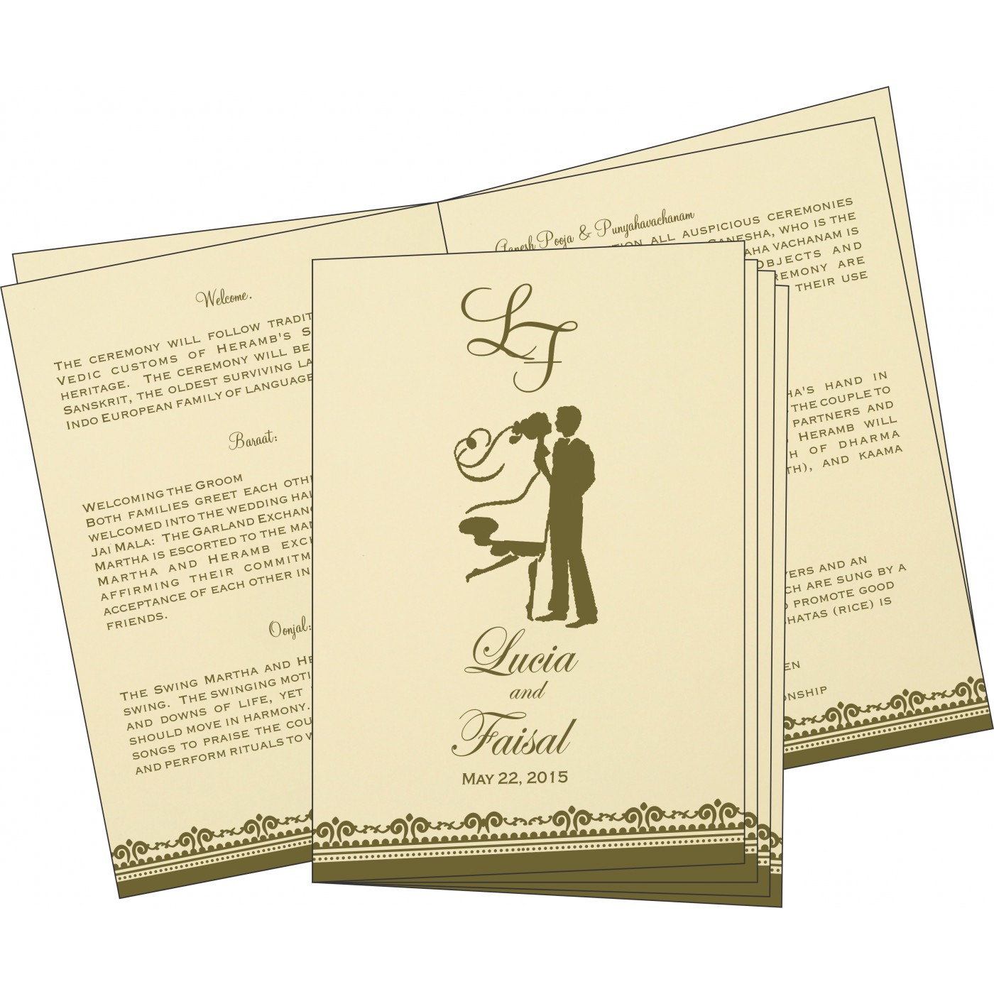 Program Booklets : PC-8205G - 123WeddingCards
