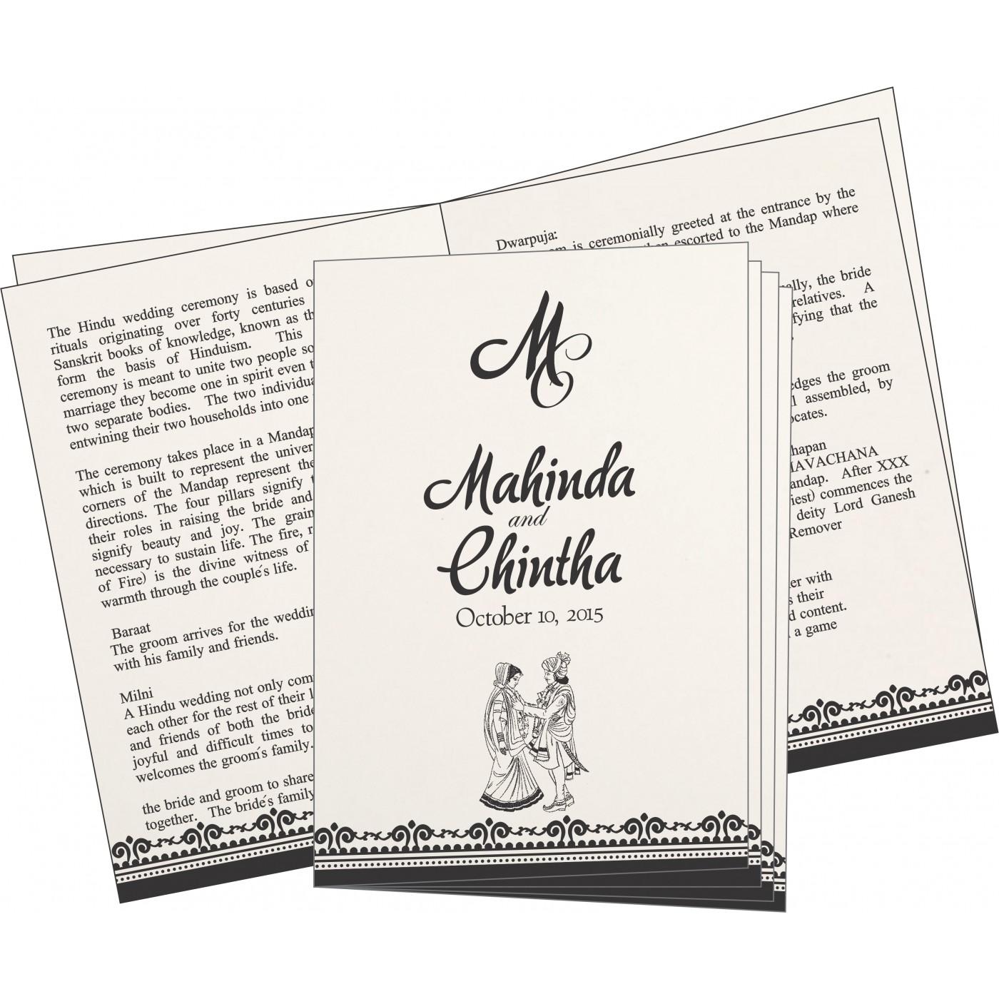 Program Booklets : PC-8205L - 123WeddingCards