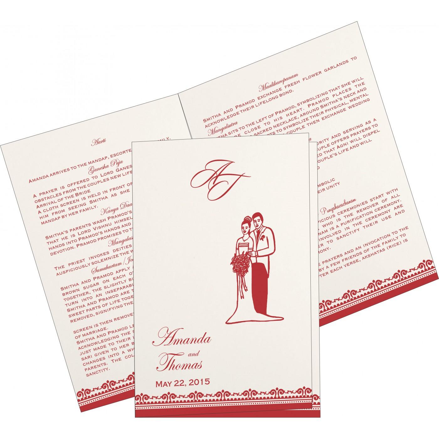 Program Booklets : PC-8205N - 123WeddingCards