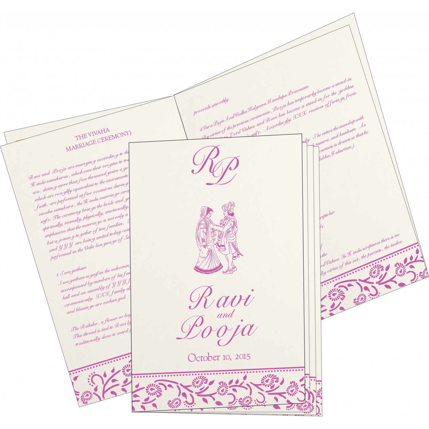 Program Booklets : PC-8206F - 123WeddingCards