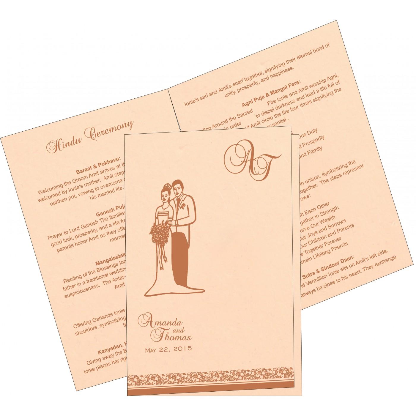 Program Booklets : PC-8207C - 123WeddingCards