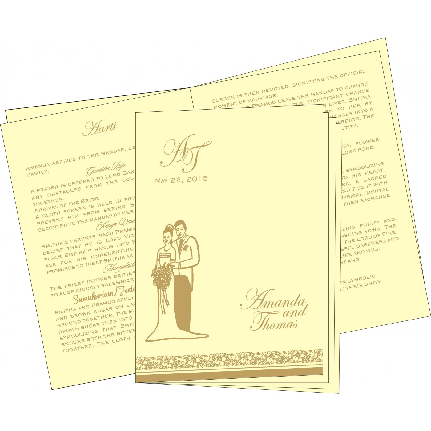 Program Booklets : PC-8207F - 123WeddingCards