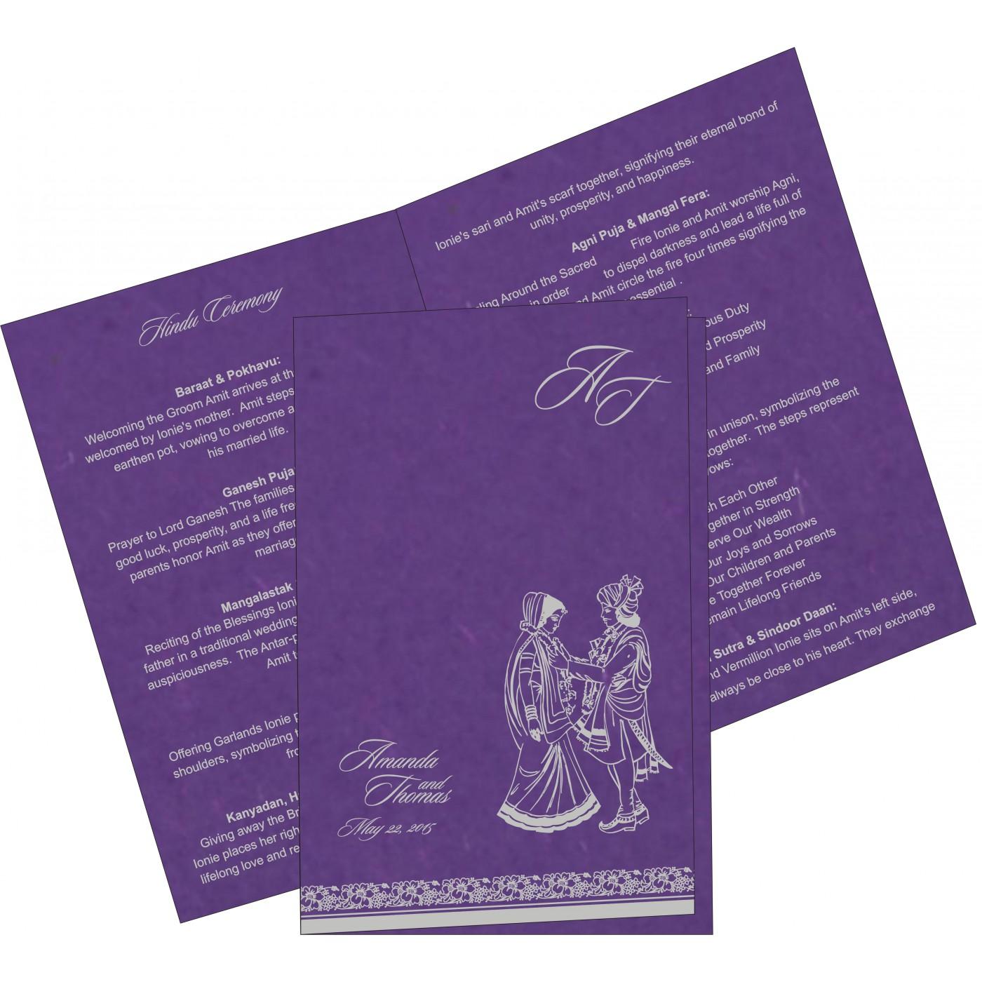 Program Booklets : PC-8207G - 123WeddingCards