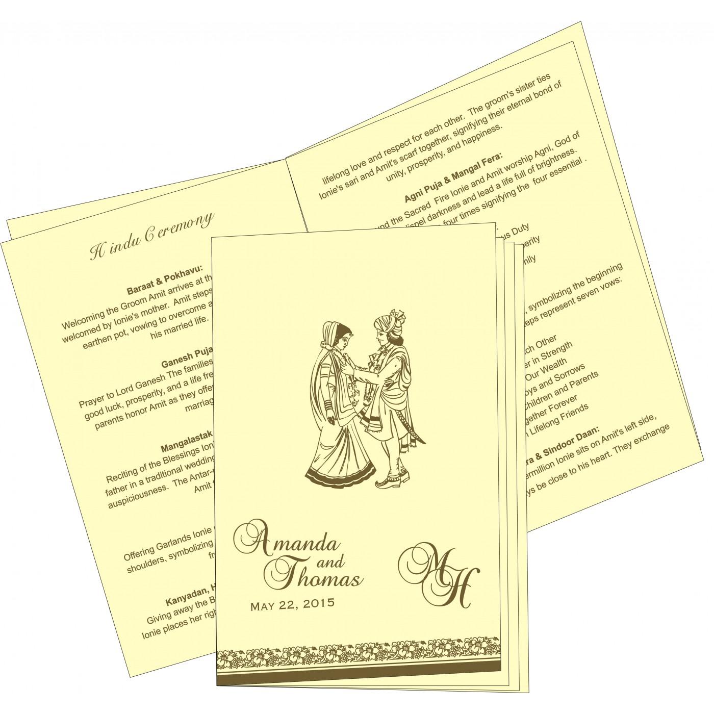 Program Booklets : PC-8207H - 123WeddingCards