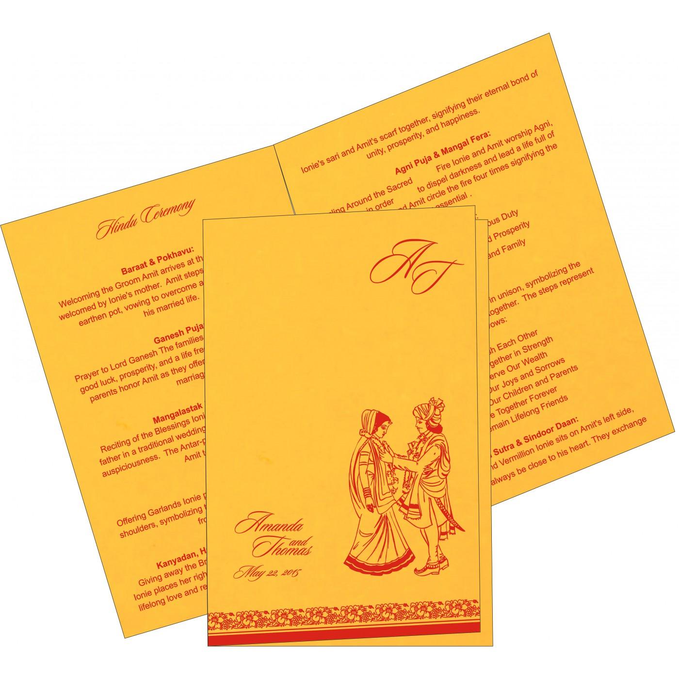 Program Booklets : PC-8207O - 123WeddingCards