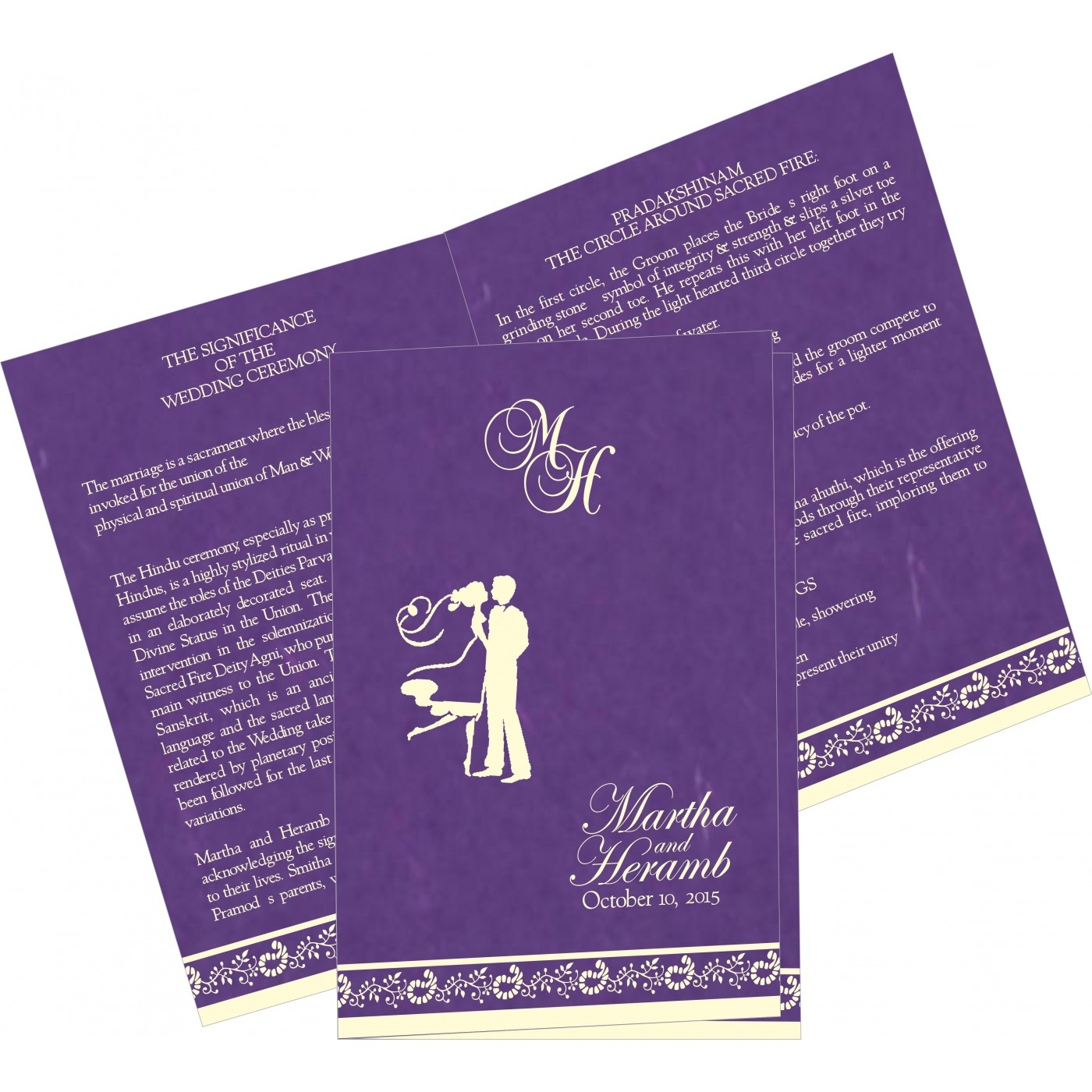 Program Booklets : PC-8208M - 123WeddingCards